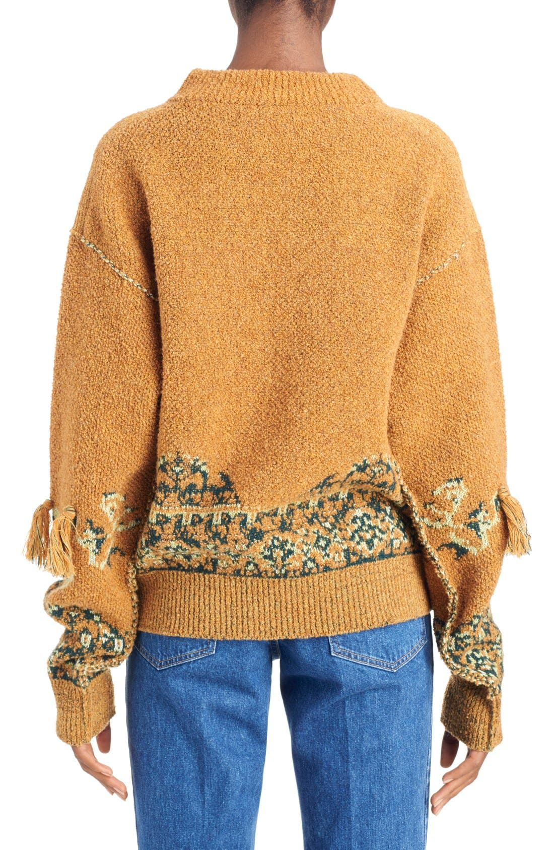 Tassel Wool Blend Sweater,                             Alternate thumbnail 2, color,                             700
