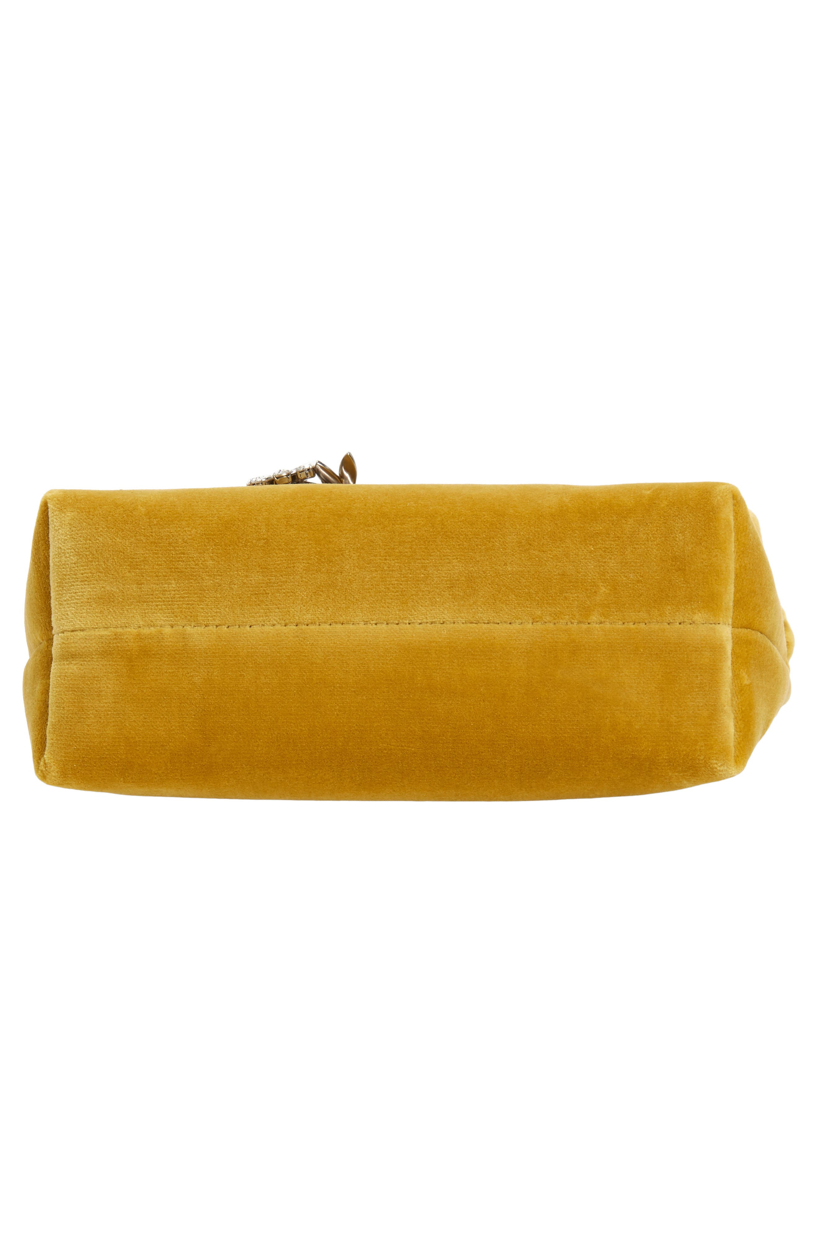 Small Safety Pin Clutch,                             Alternate thumbnail 6, color,                             LARCH YELLOW