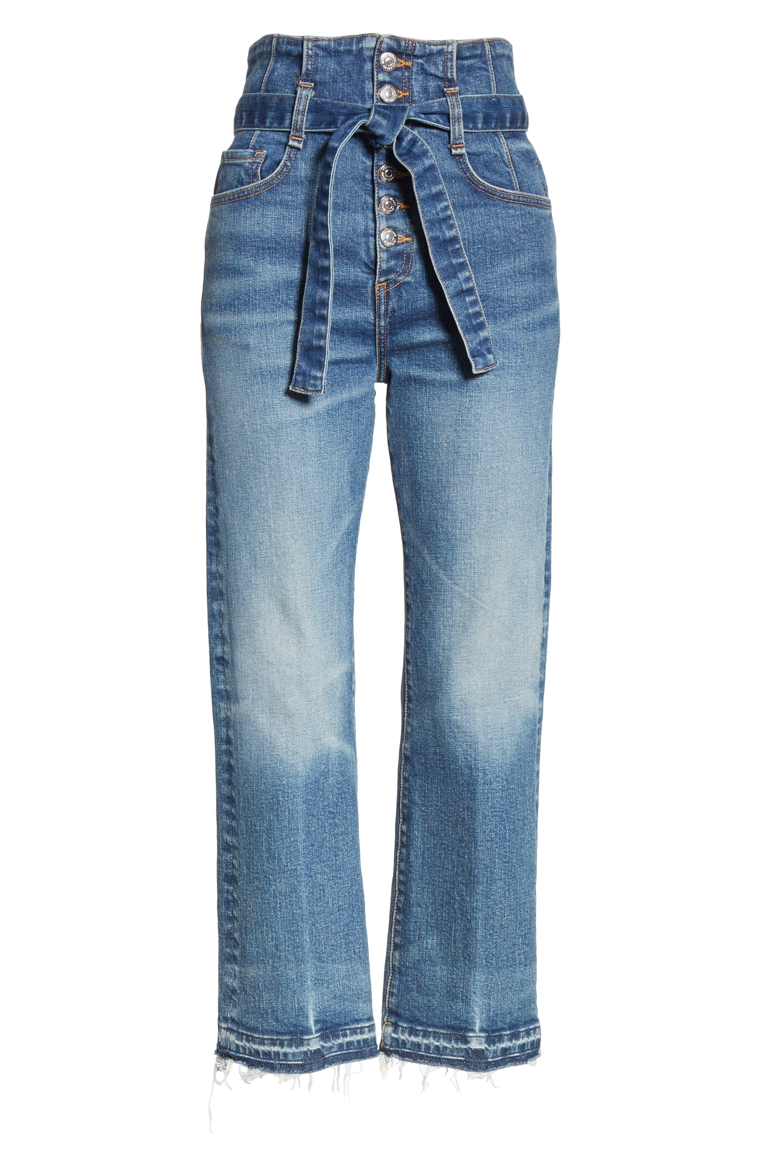 Marlene Corset Waist Straight Leg Jeans,                             Alternate thumbnail 7, color,                             TERRAIN