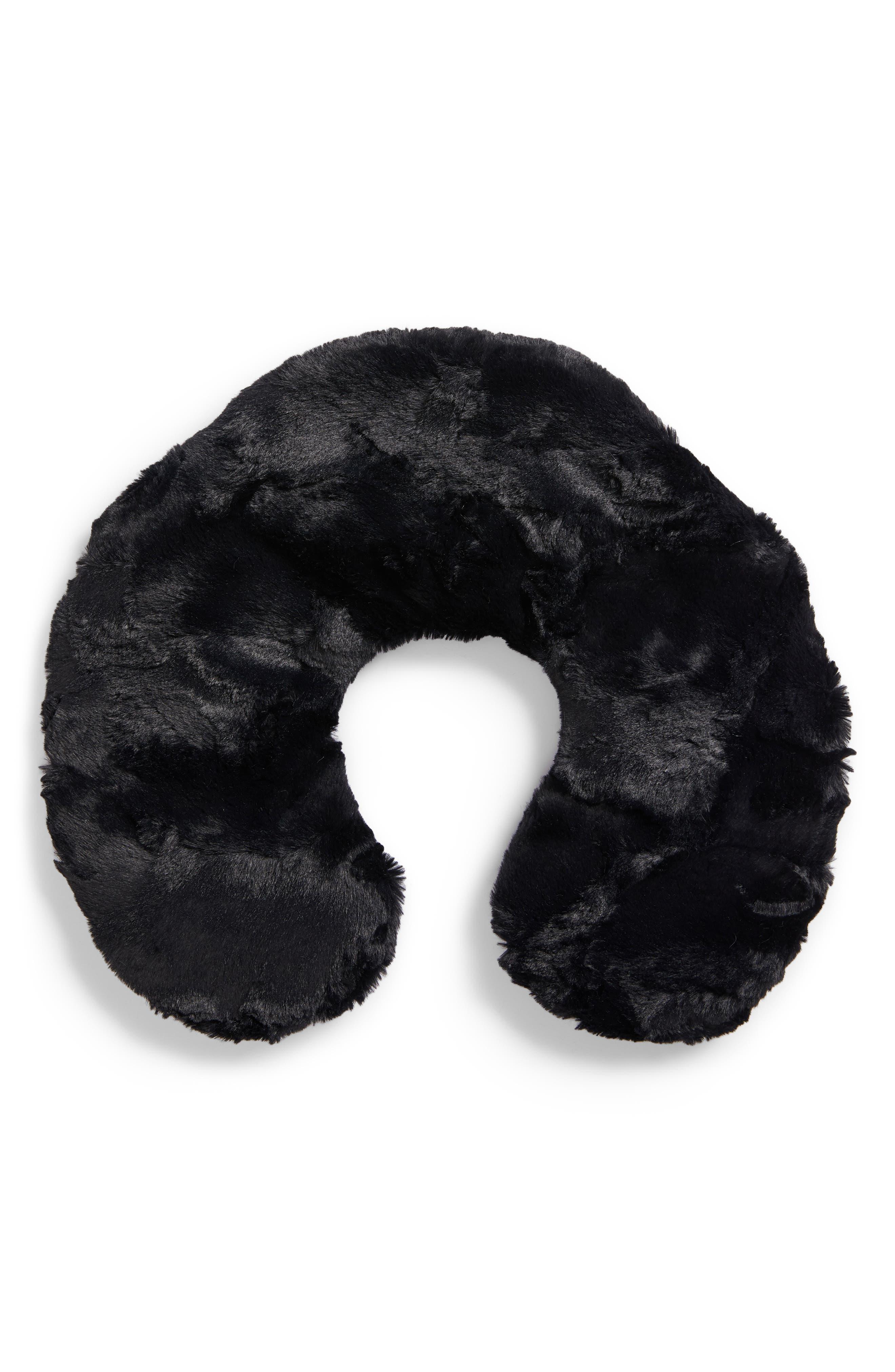 Caviar Black Neck Pillow,                             Main thumbnail 1, color,                             NO COLOR
