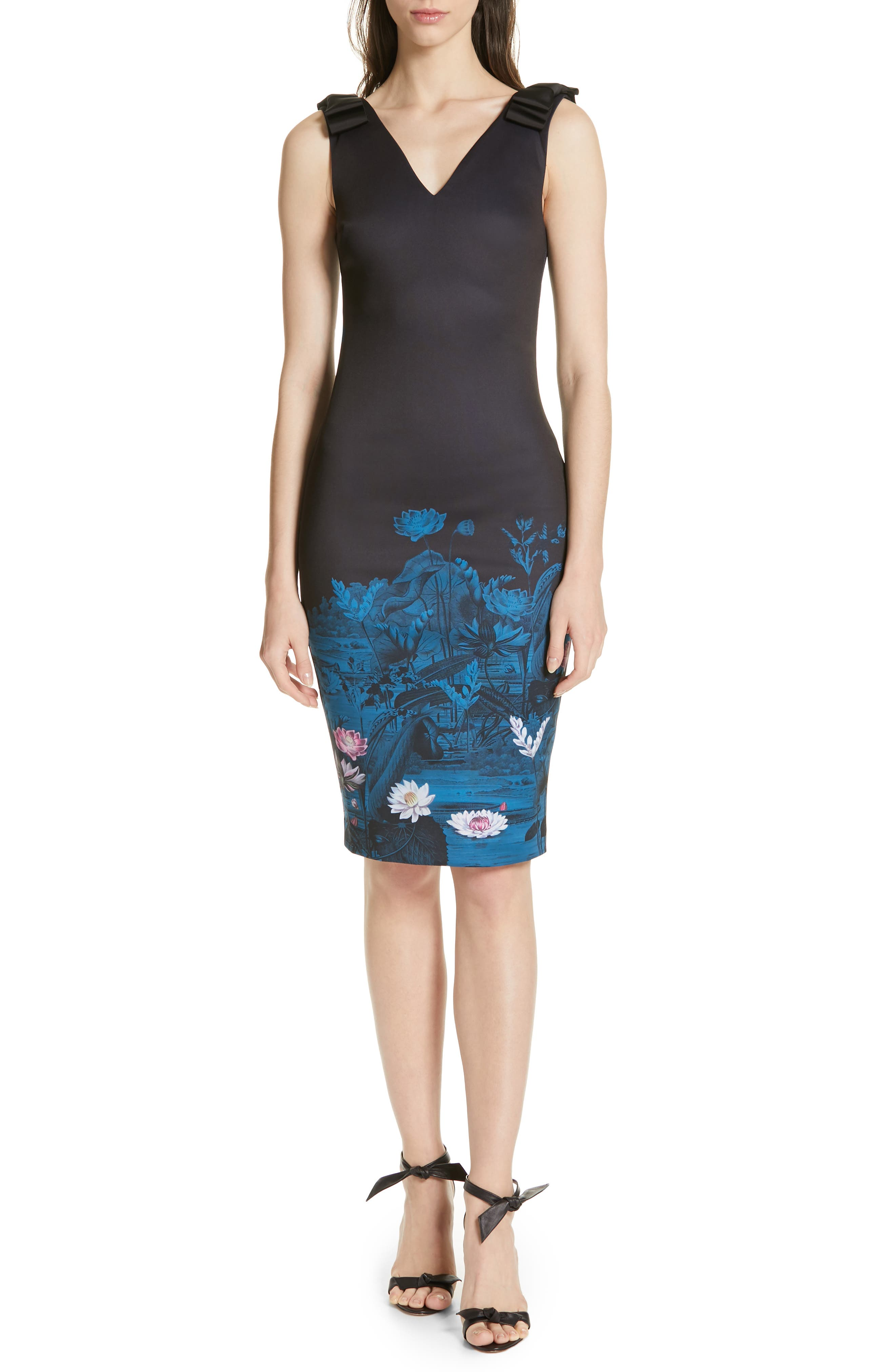 Ted Baker London Dinina Wonderland Body-Con Dress, Blue