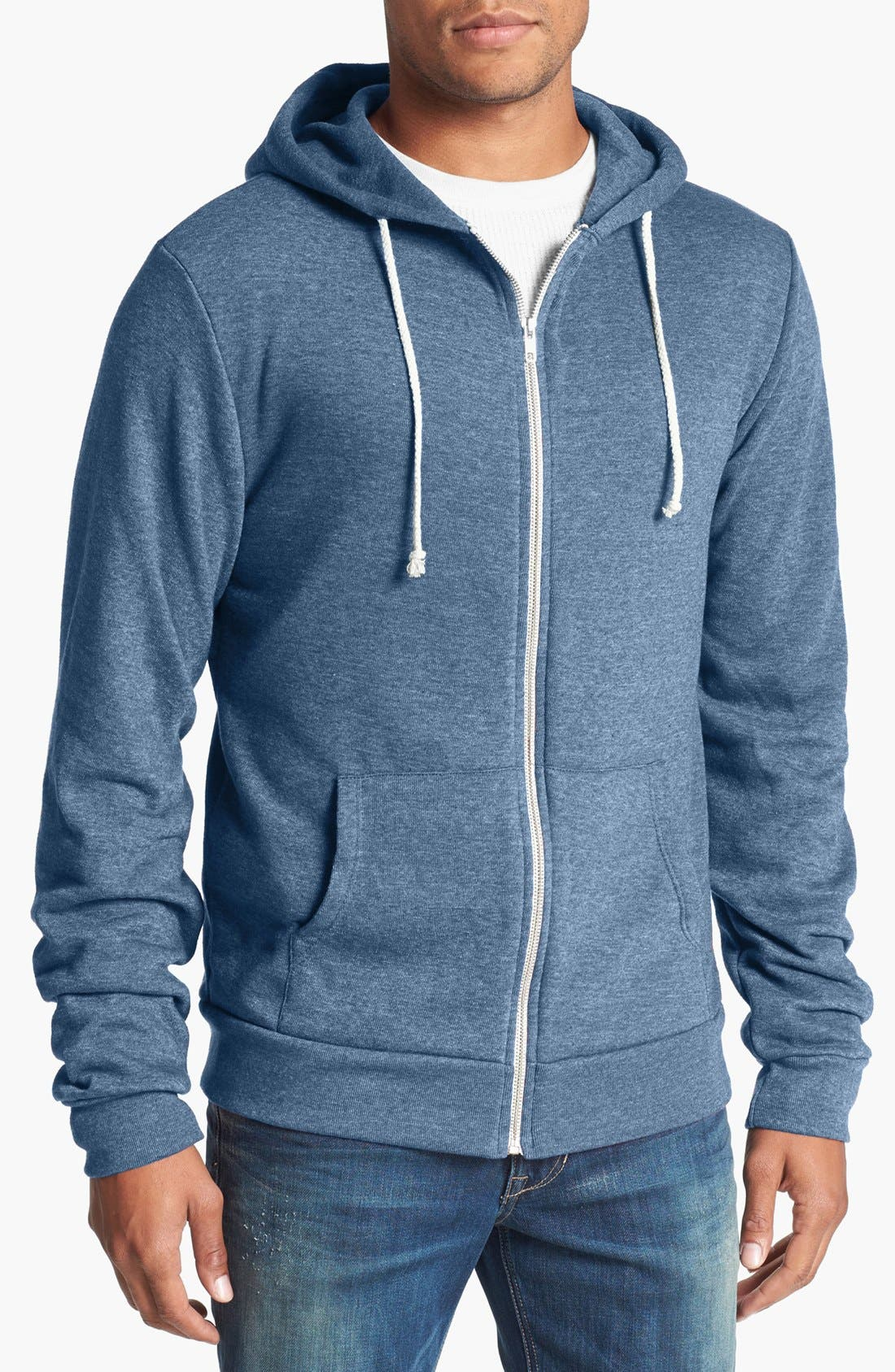 Threads for Thought Trim Fit Heathered Hoodie,                             Main thumbnail 12, color,