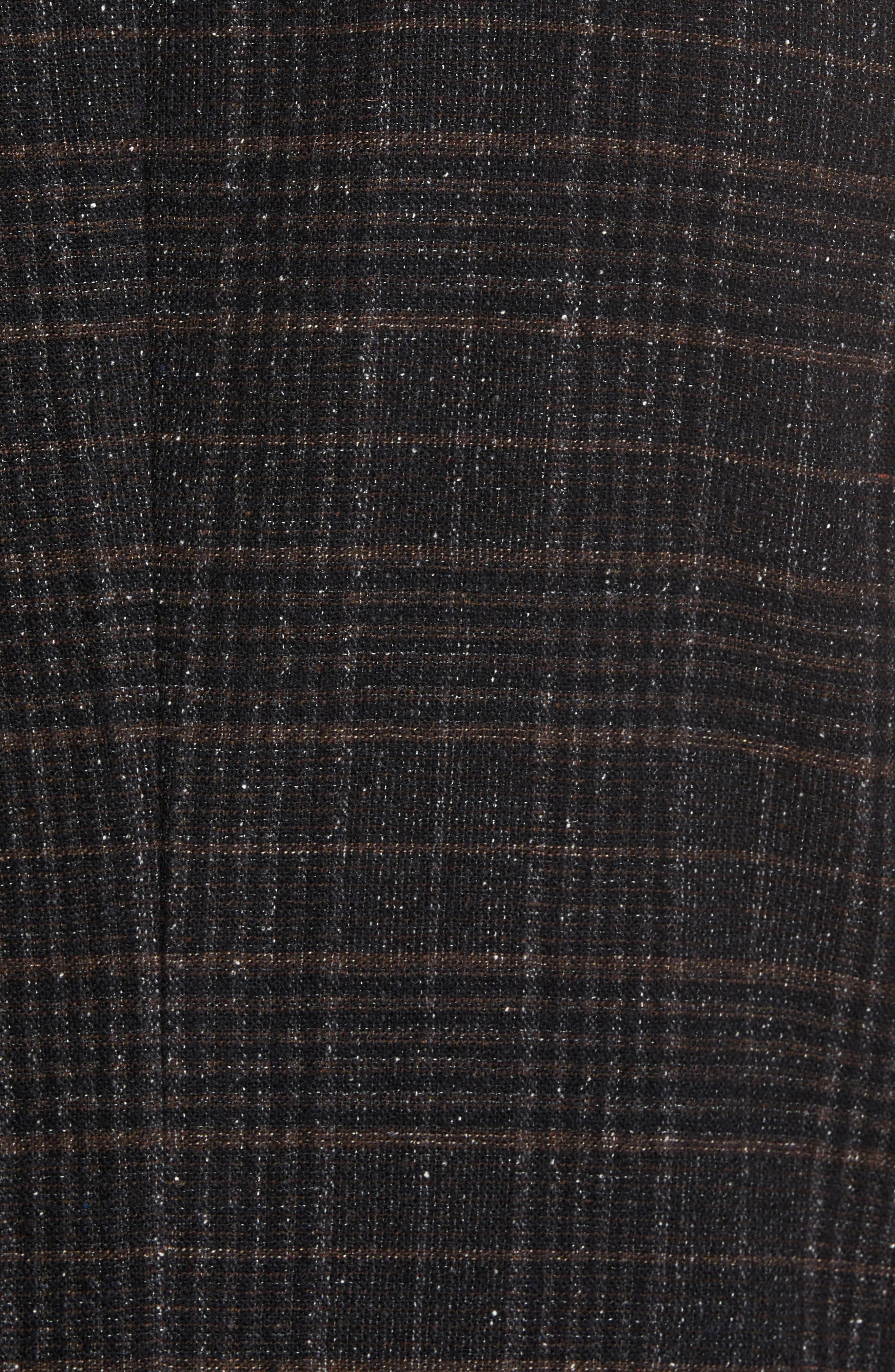 Nold Trim Fit Plaid Wool Blend Sport Coat,                             Alternate thumbnail 6, color,                             202