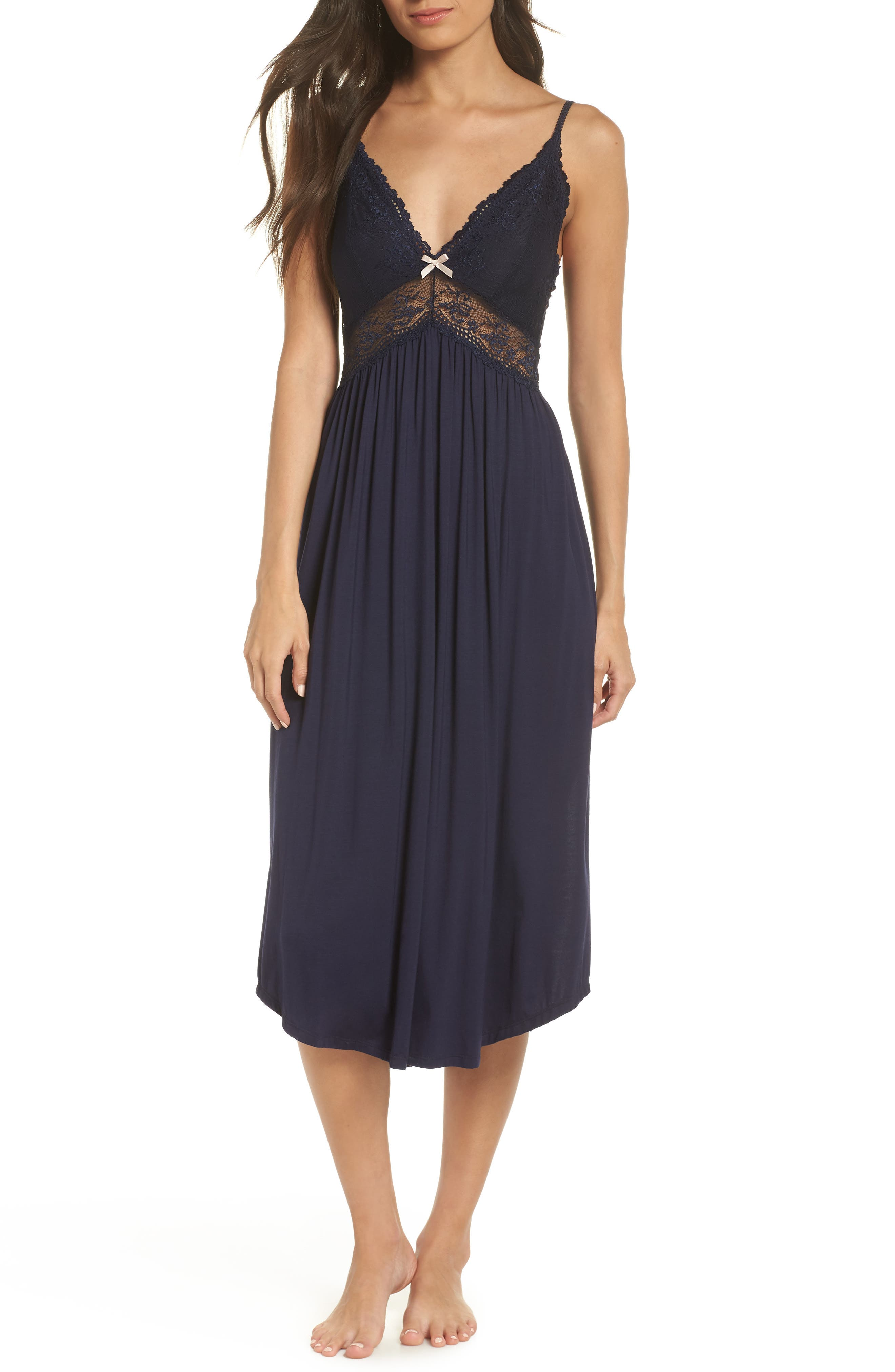 'Colette' Nightgown,                         Main,                         color, NORTHERN LIGHTS