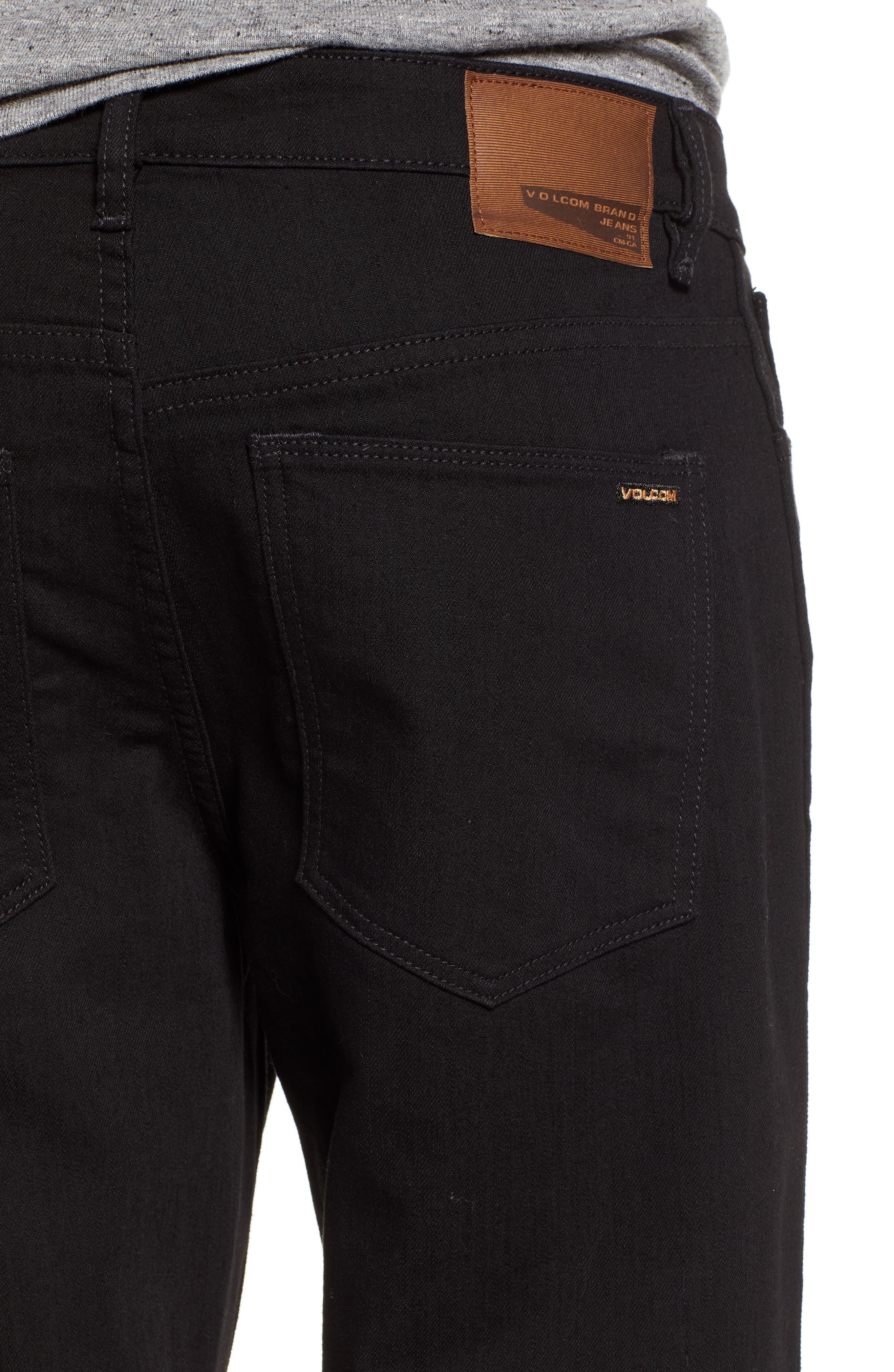 Kinkade Slim Fit Jeans,                             Alternate thumbnail 4, color,                             TOUGH BLACK