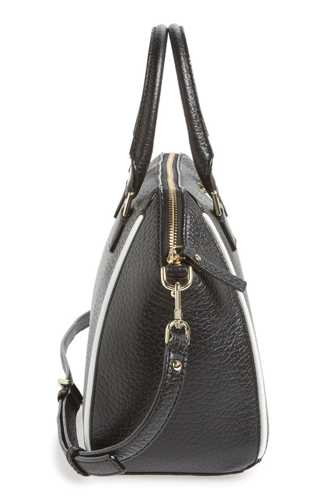 'prospect place - pippa' leather satchel,                             Alternate thumbnail 3, color,                             001