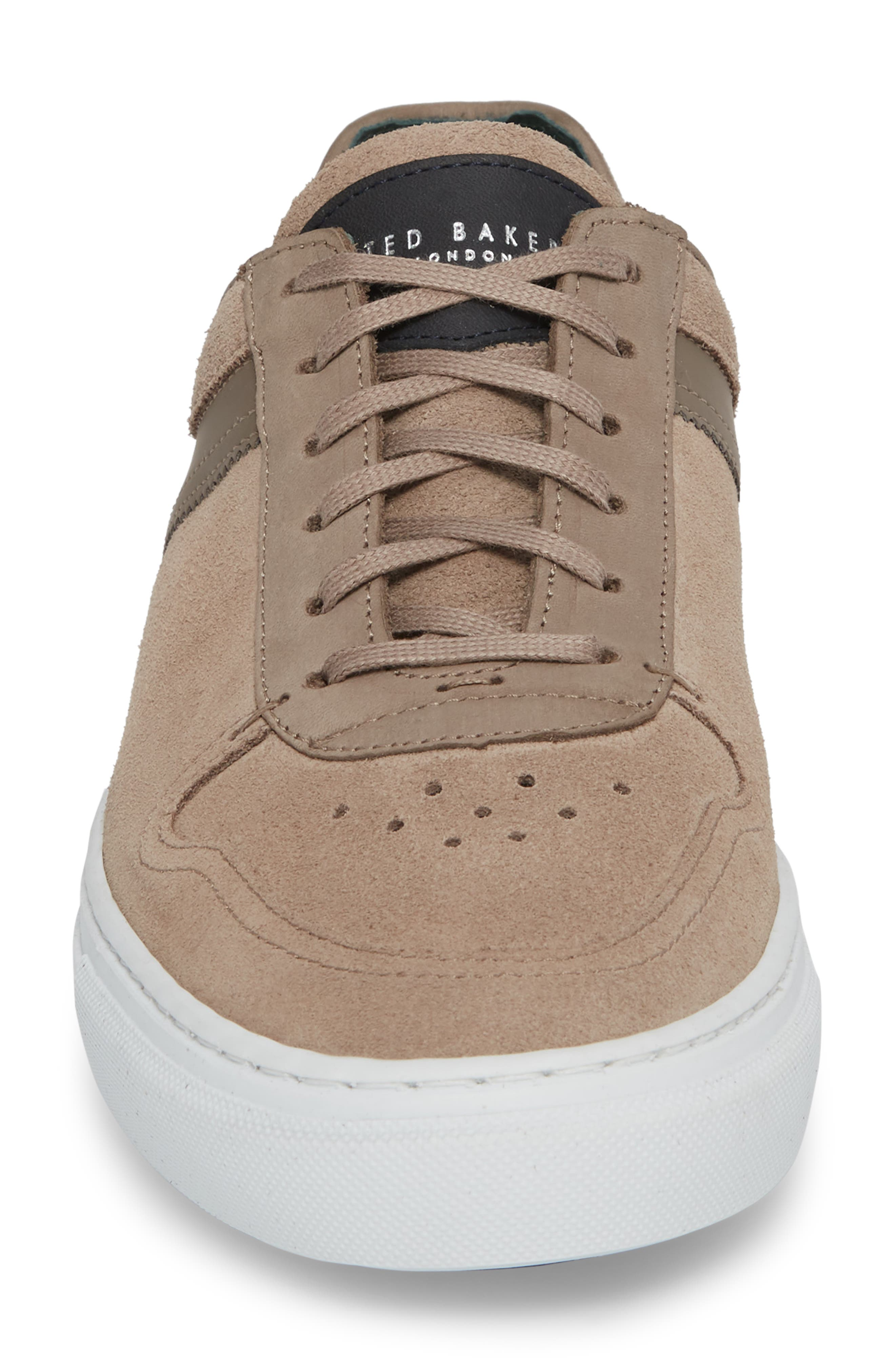 Burall Sneaker,                             Alternate thumbnail 4, color,                             GREY SUEDE/ TEXTILE