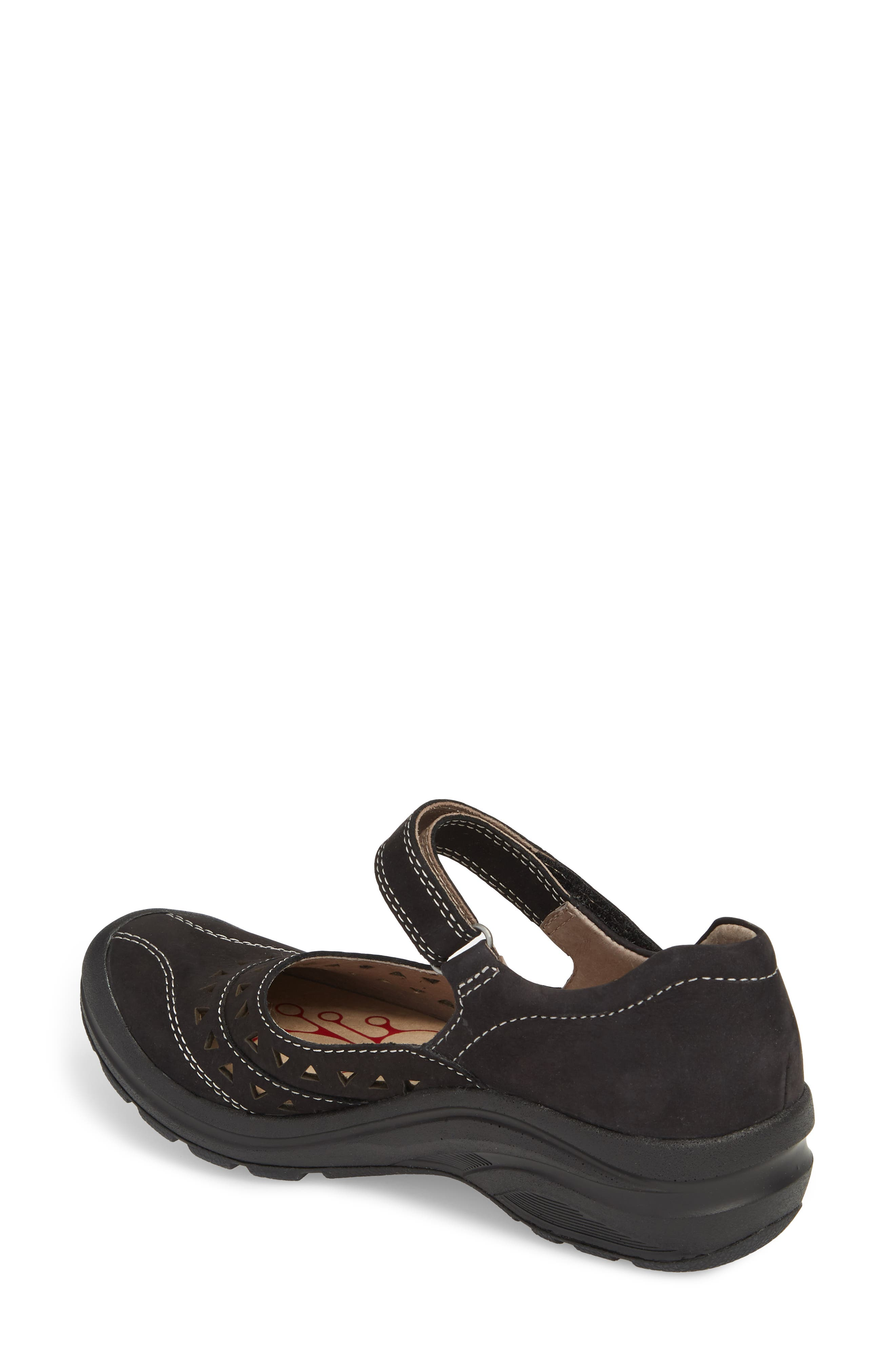 Matia Mary Jane Sneaker,                             Alternate thumbnail 2, color,                             BLACK LEATHER