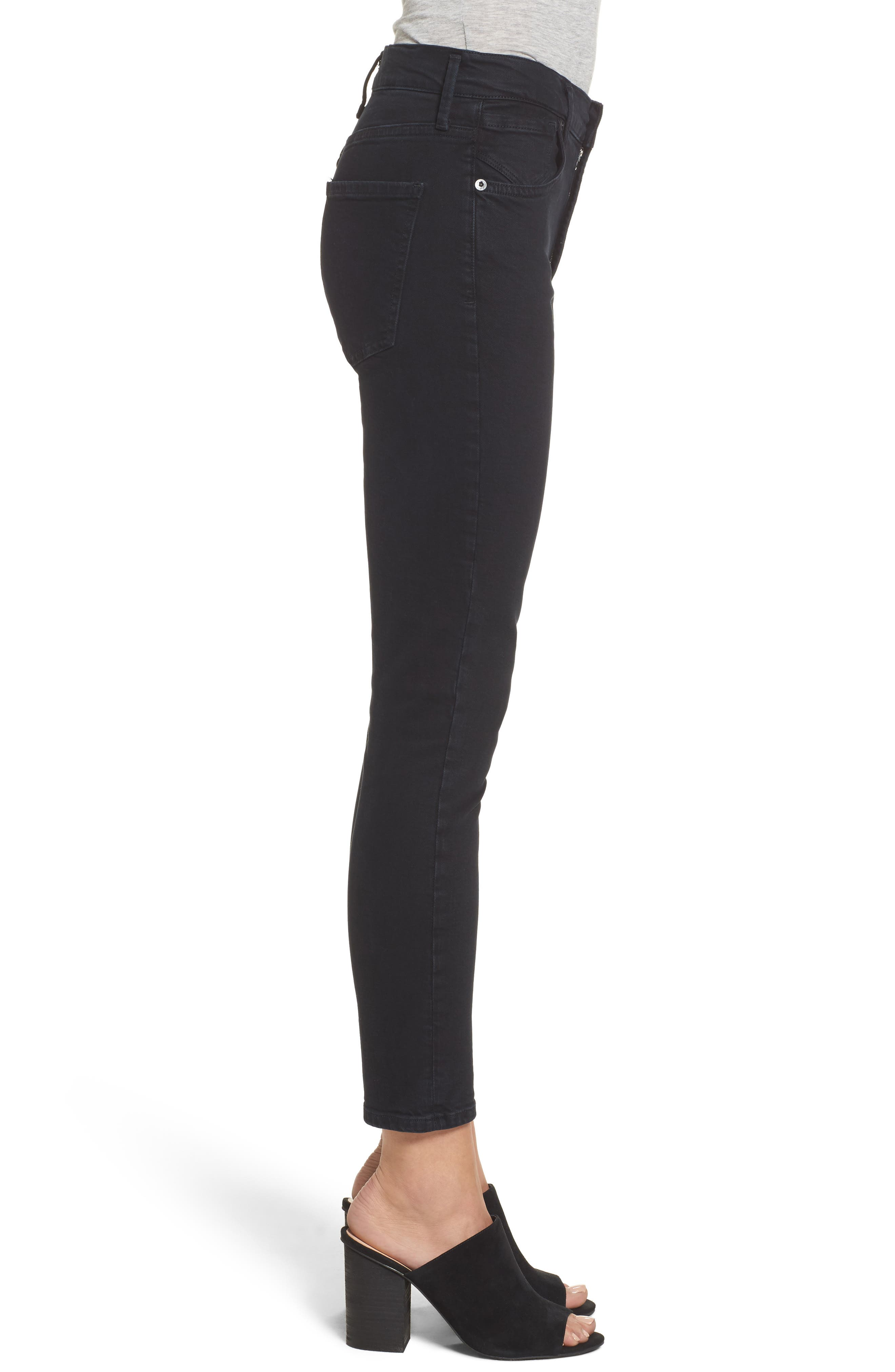 Sophie Crop High Rise Skinny Jeans,                             Alternate thumbnail 3, color,                             071