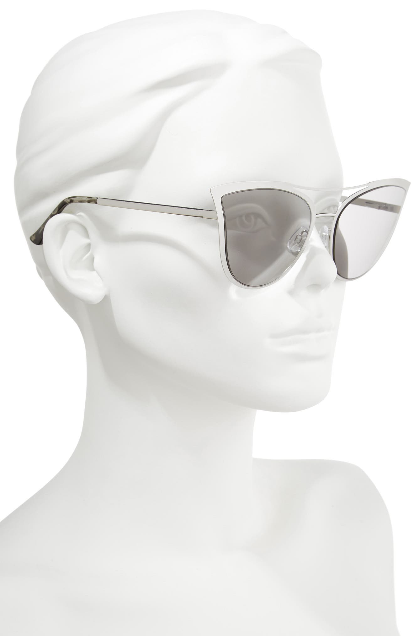 61mm Metal Cat Eye Sunglasses,                             Alternate thumbnail 5, color,