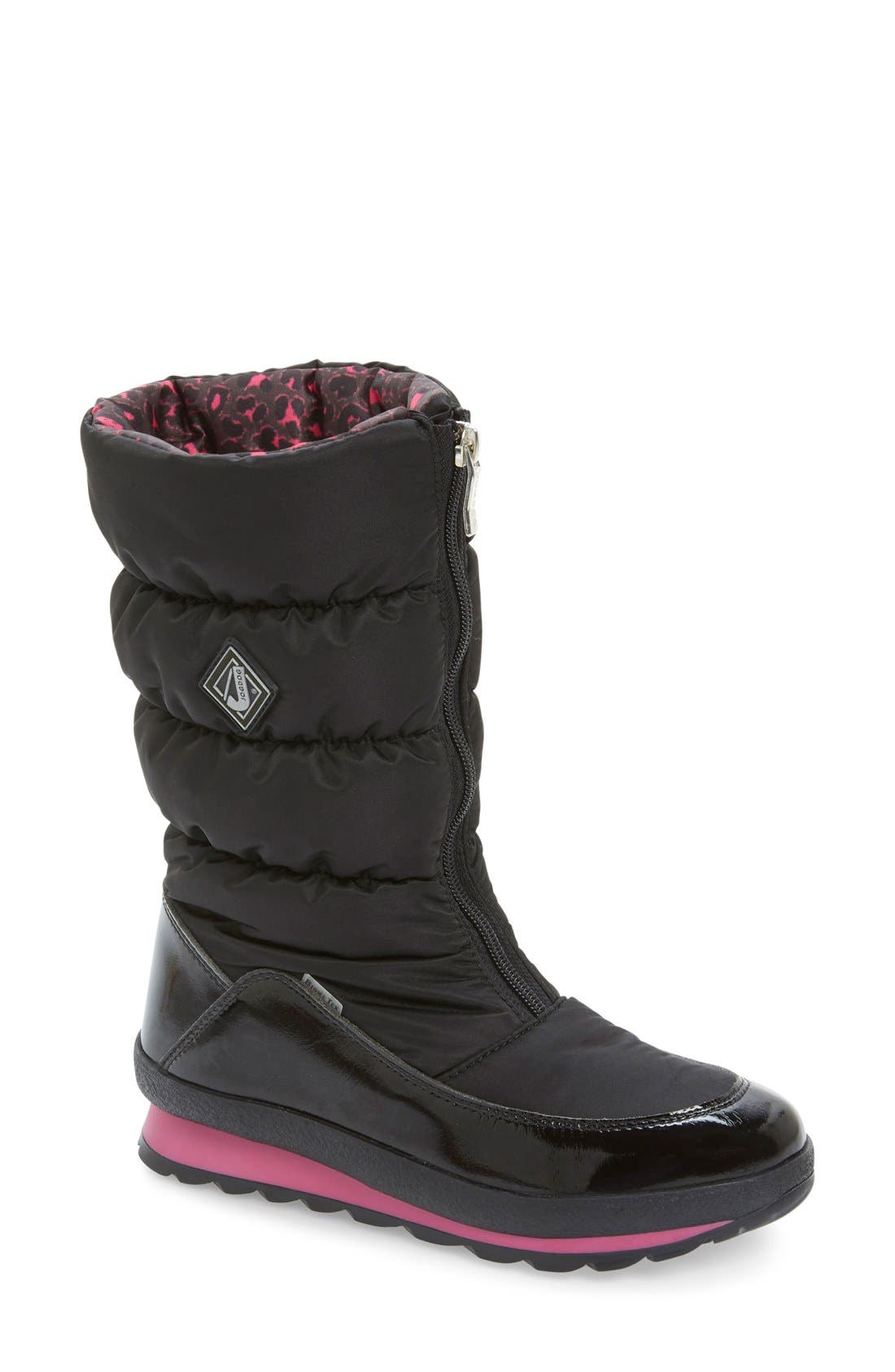 Cervina Waterproof Zip-Up Channel Quilted Boot,                             Main thumbnail 3, color,