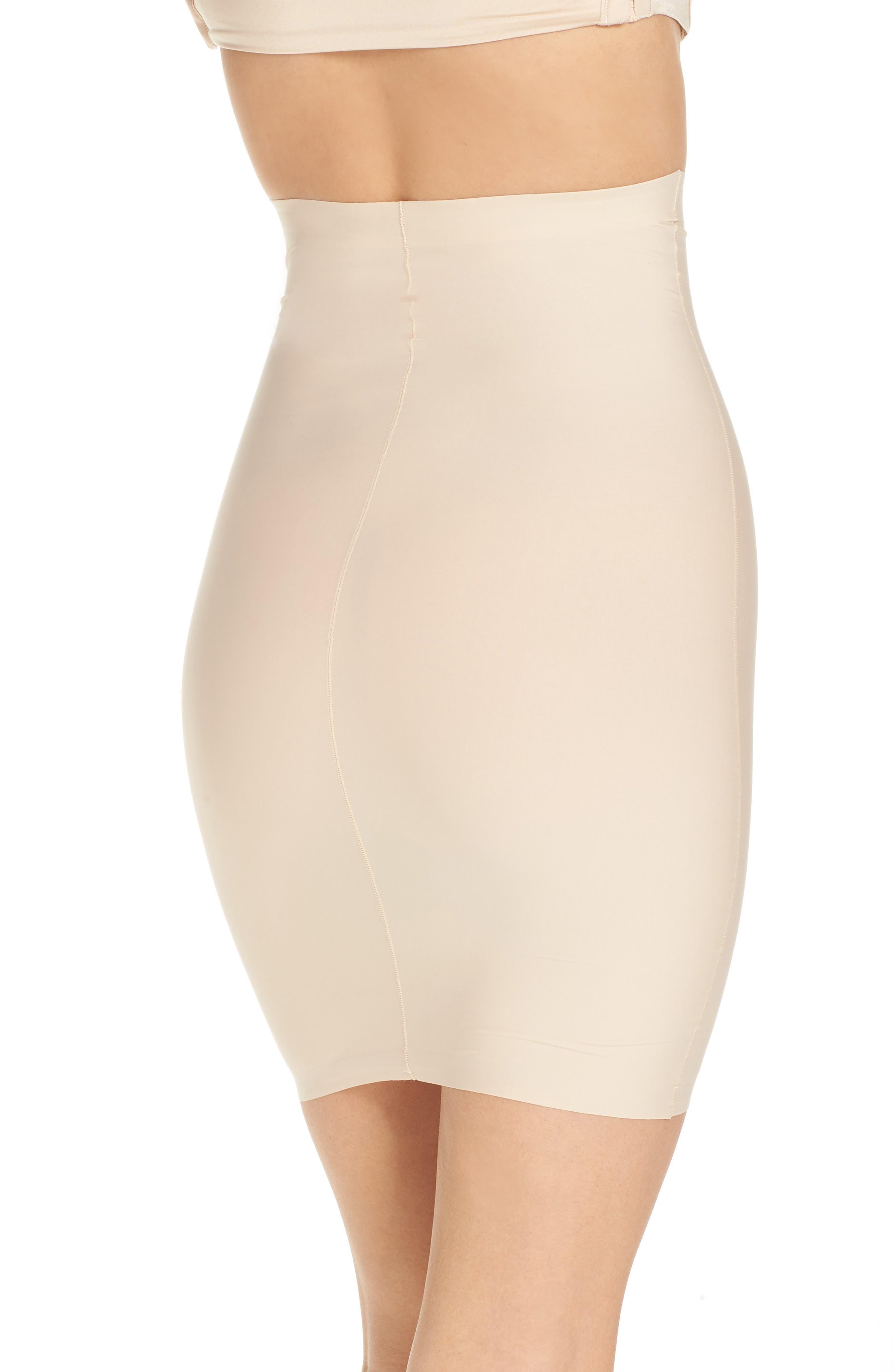High Waist Smoother Skirt Slip,                             Alternate thumbnail 2, color,                             FRAPPE
