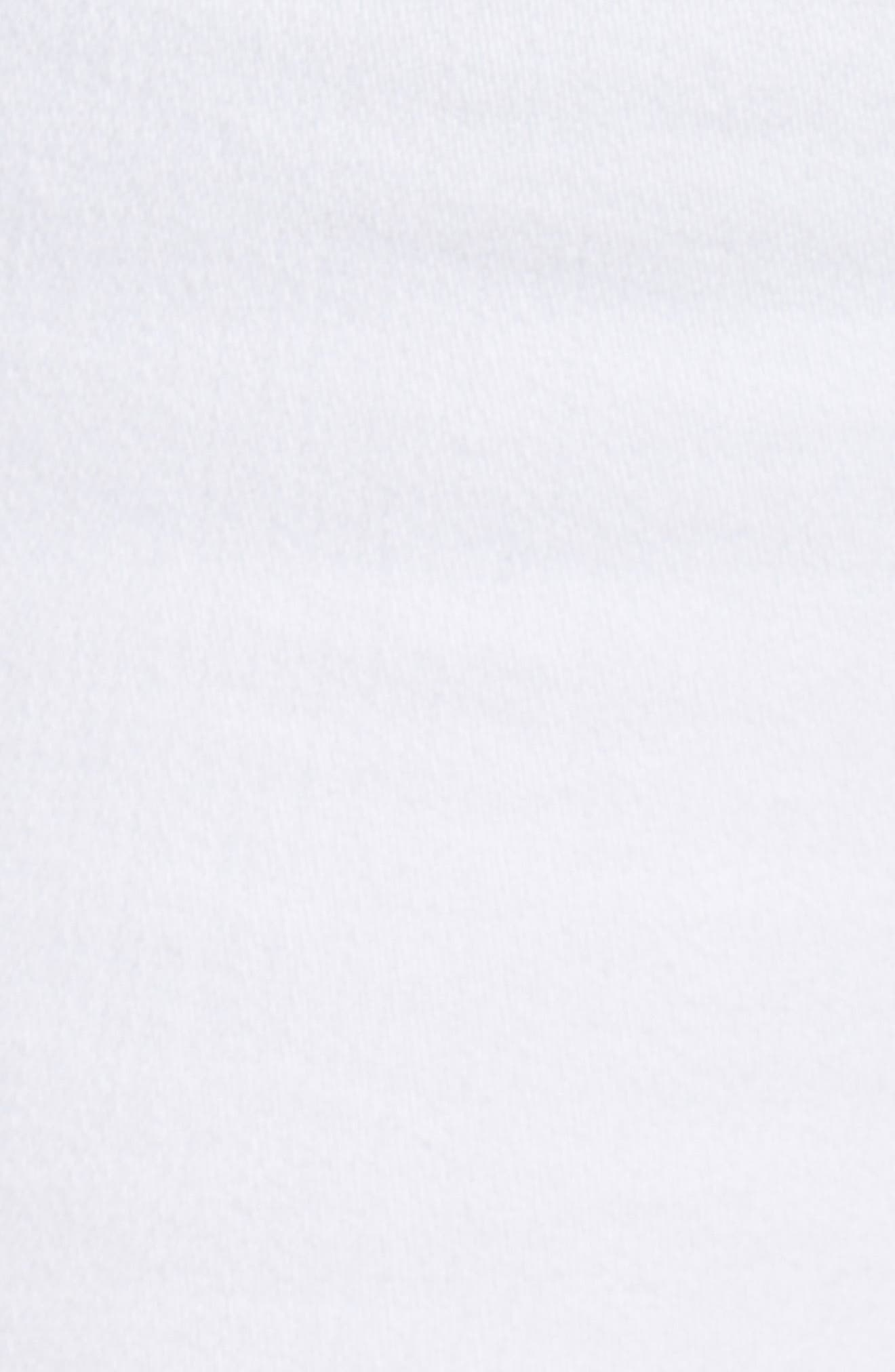 Amelia Cuff Bermuda Shorts,                             Alternate thumbnail 5, color,                             WHITE