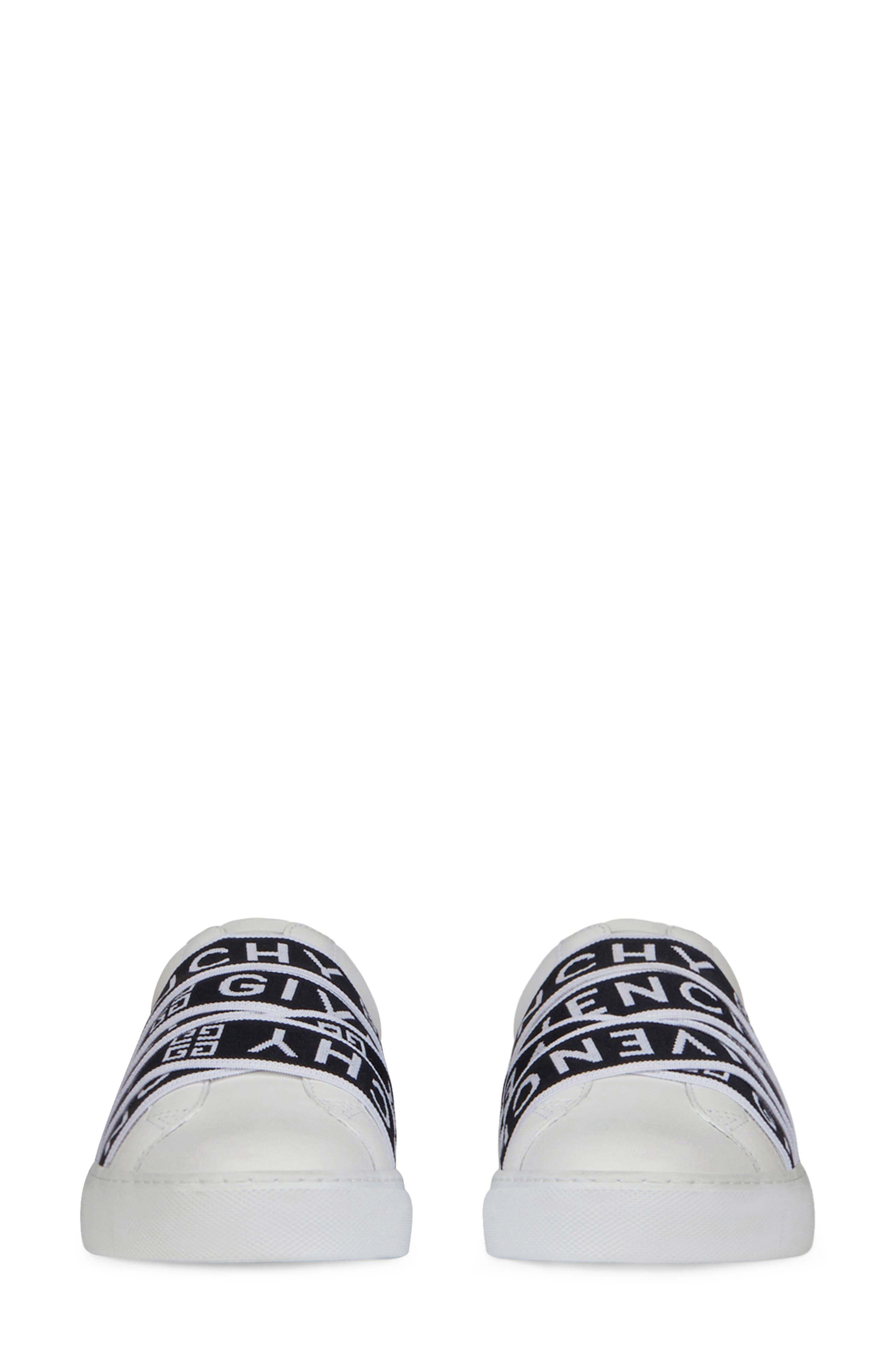 GIVENCHY,                             Urban Street Logo Strap Sneaker,                             Alternate thumbnail 3, color,                             WHITE/ BLACK