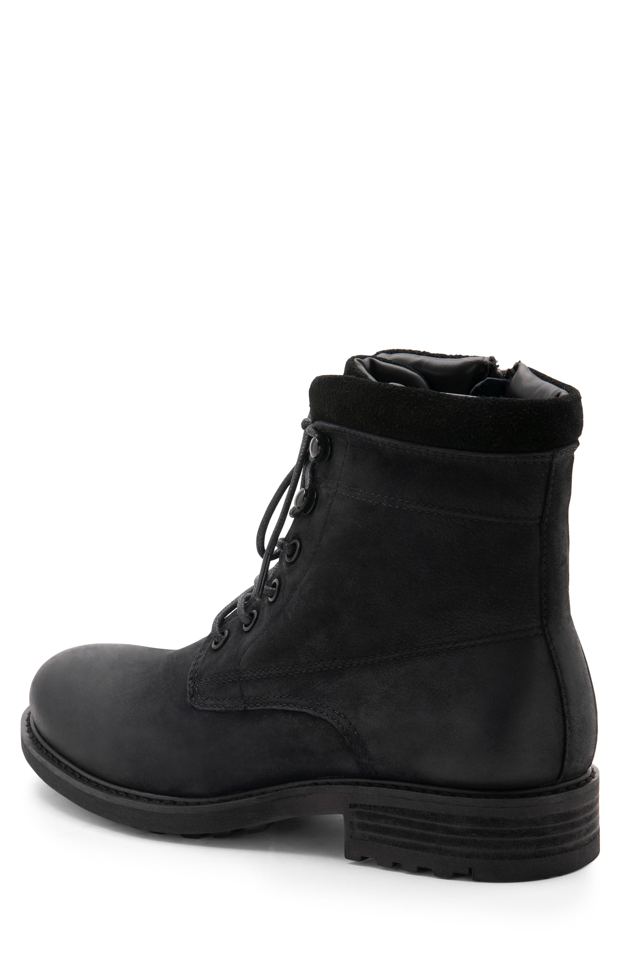 Patton Waterproof Plain Toe Boot,                             Alternate thumbnail 2, color,                             BLACK NUBUCK