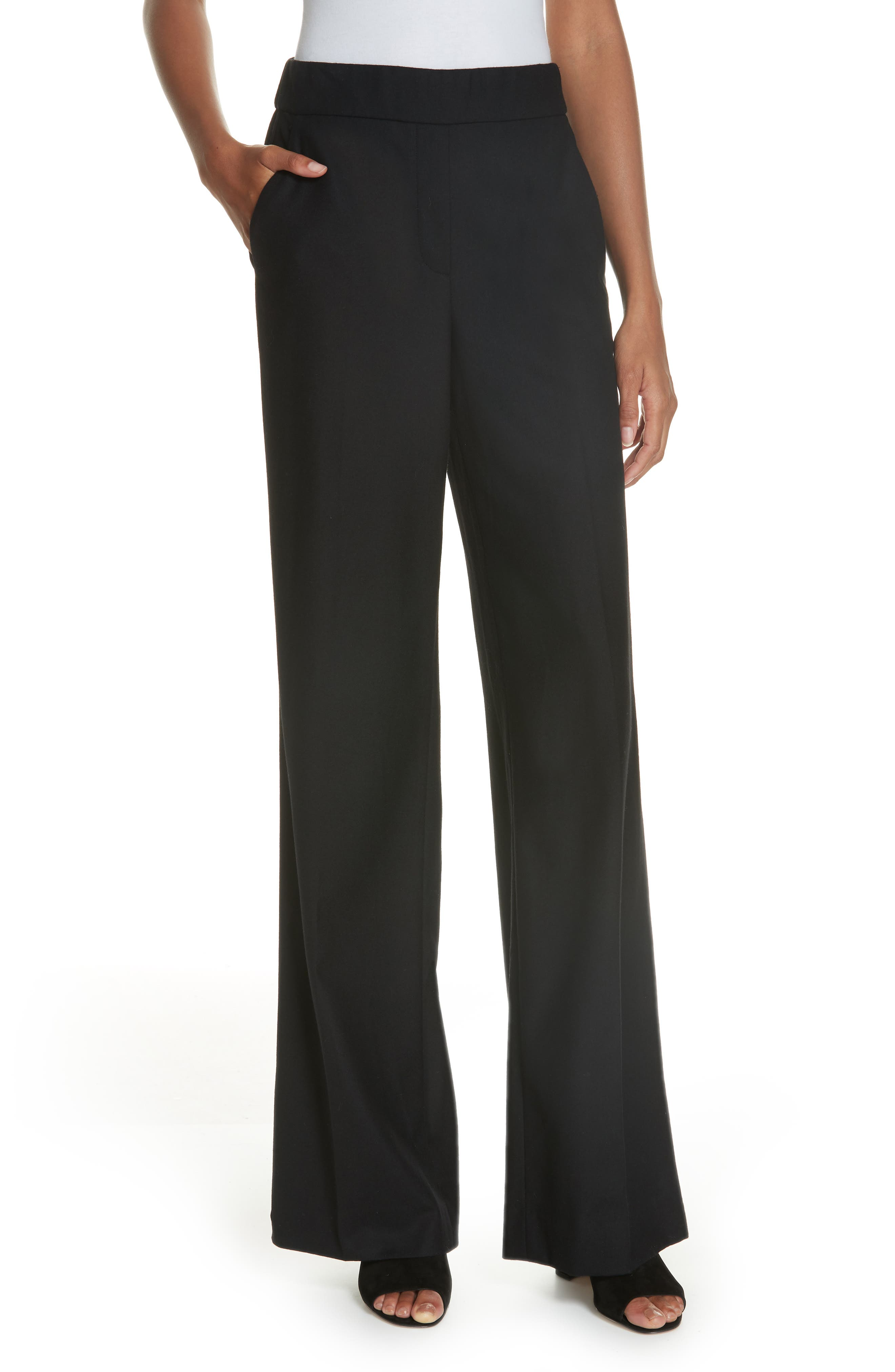 Talbert New Pure Stretch Wool Flare Leg Pants,                             Main thumbnail 1, color,                             001
