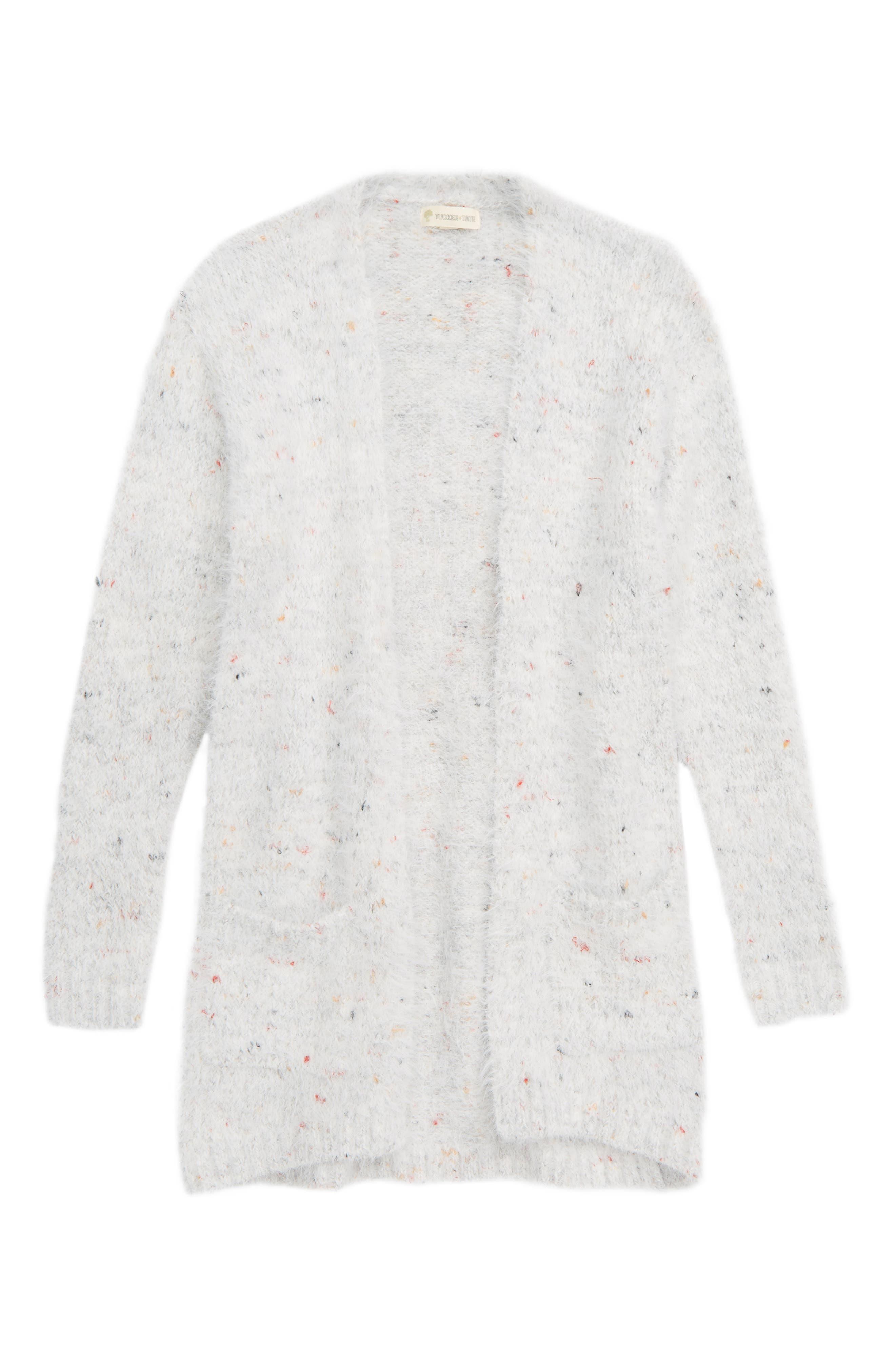 Speckle Cardigan,                         Main,                         color, GREY ASH HEATHER MULTI