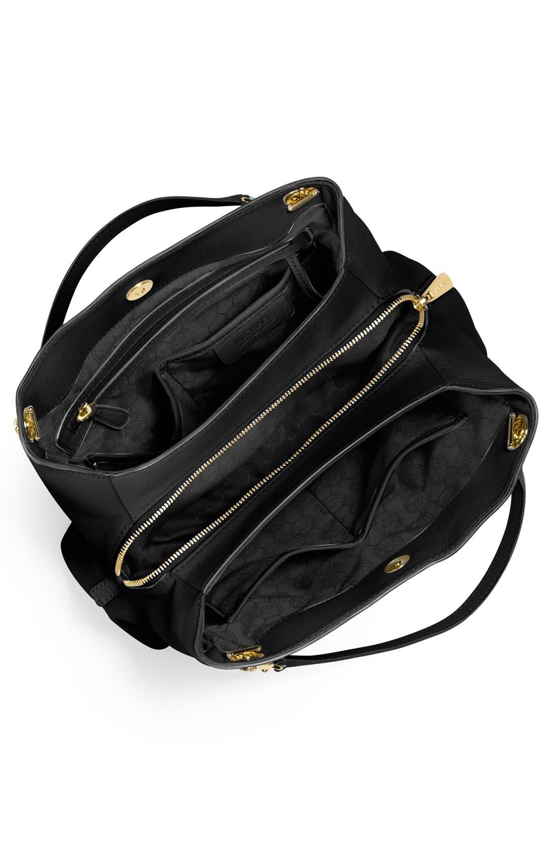 MICHAEL MICHAEL KORS,                             'Jet Set' Chain Leather Shoulder Bag,                             Alternate thumbnail 2, color,                             001