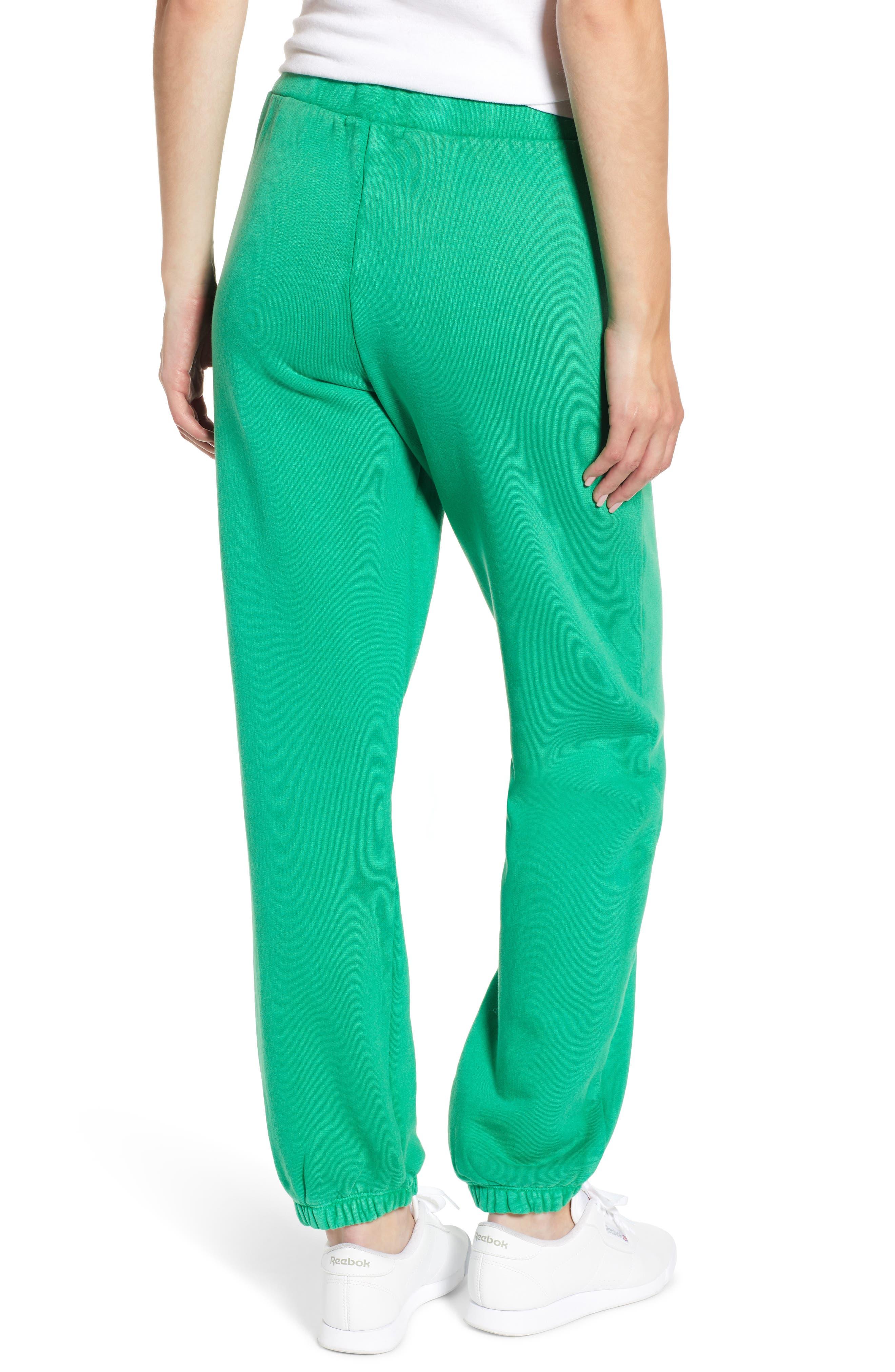 Neon Sweatpants,                             Alternate thumbnail 2, color,                             GREEN