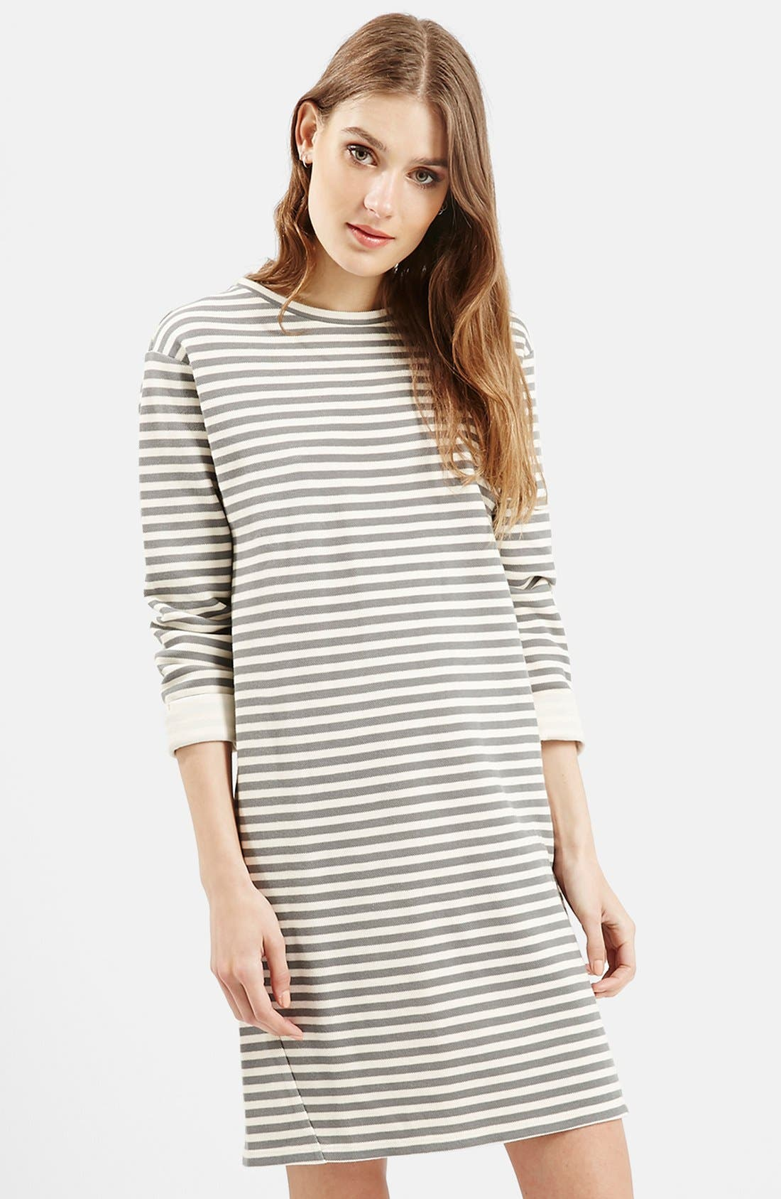Stripe Sweater Dress,                             Alternate thumbnail 2, color,                             001