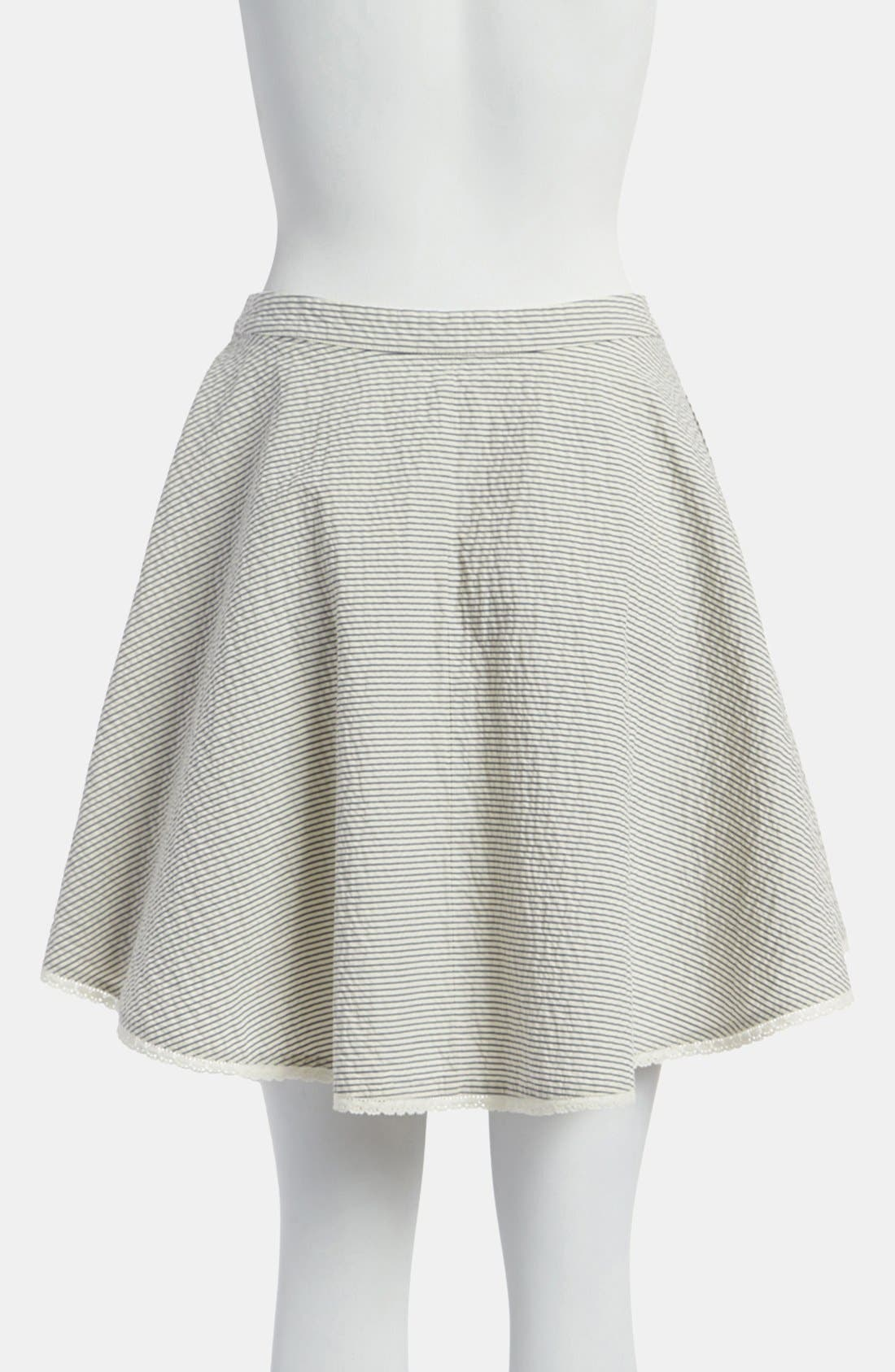 Stripe Wrap Skirt,                             Alternate thumbnail 3, color,                             260