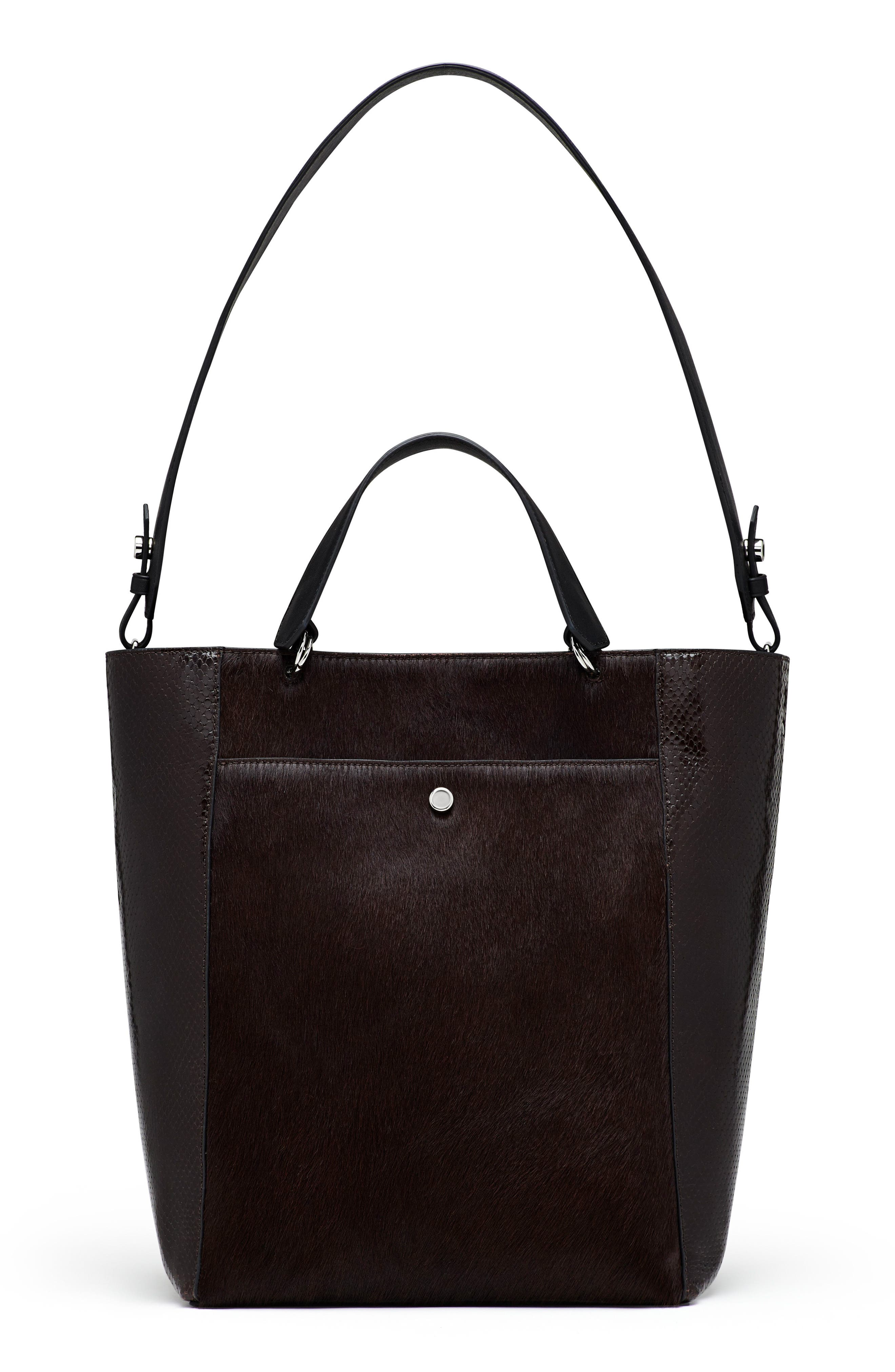 Large Eloise Genuine Calf Hair & Leather Tote,                         Main,                         color, 202