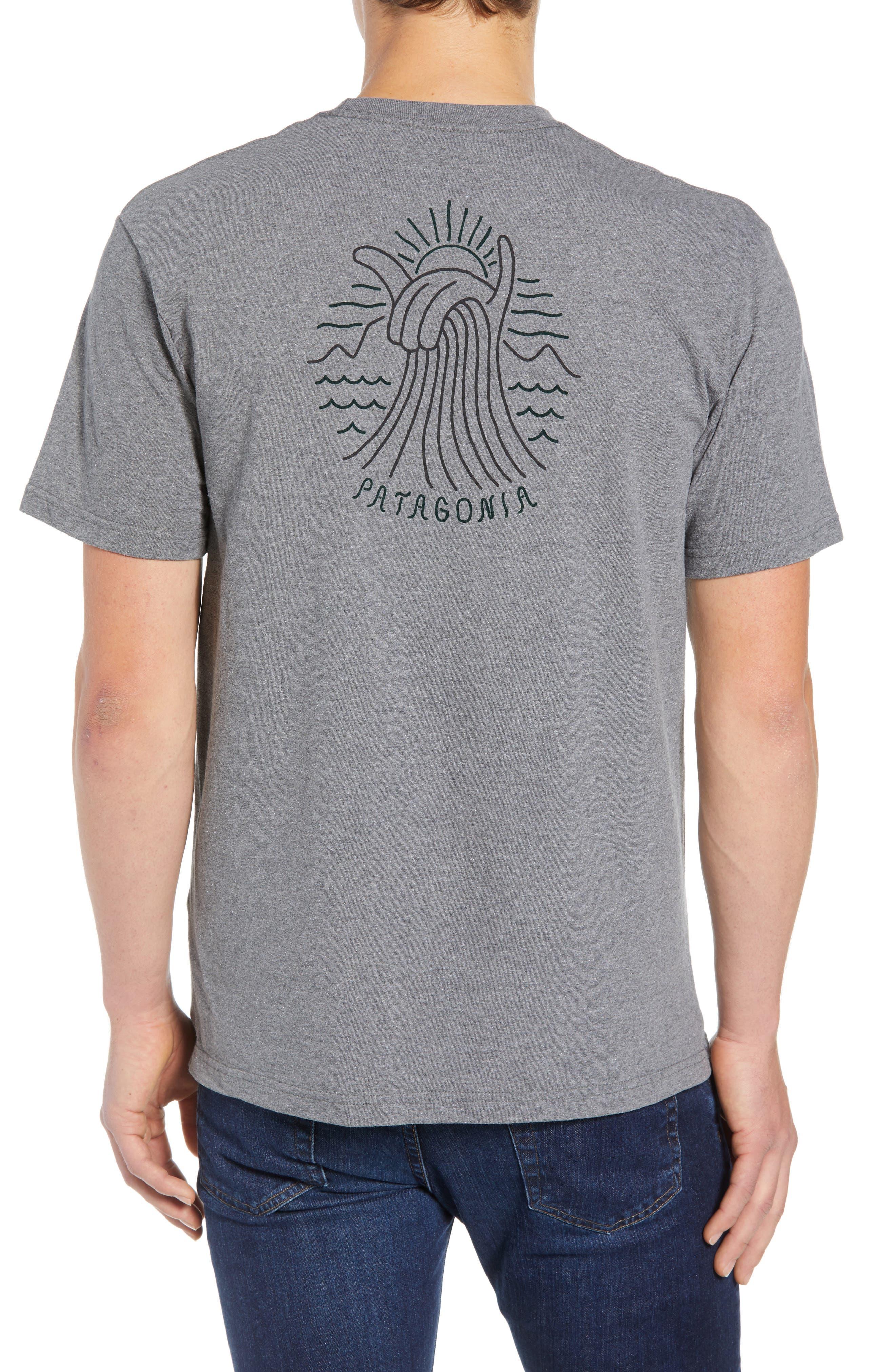 Shaka Wave Slim Fit T-Shirt,                             Alternate thumbnail 2, color,                             GRAVEL HEATHER