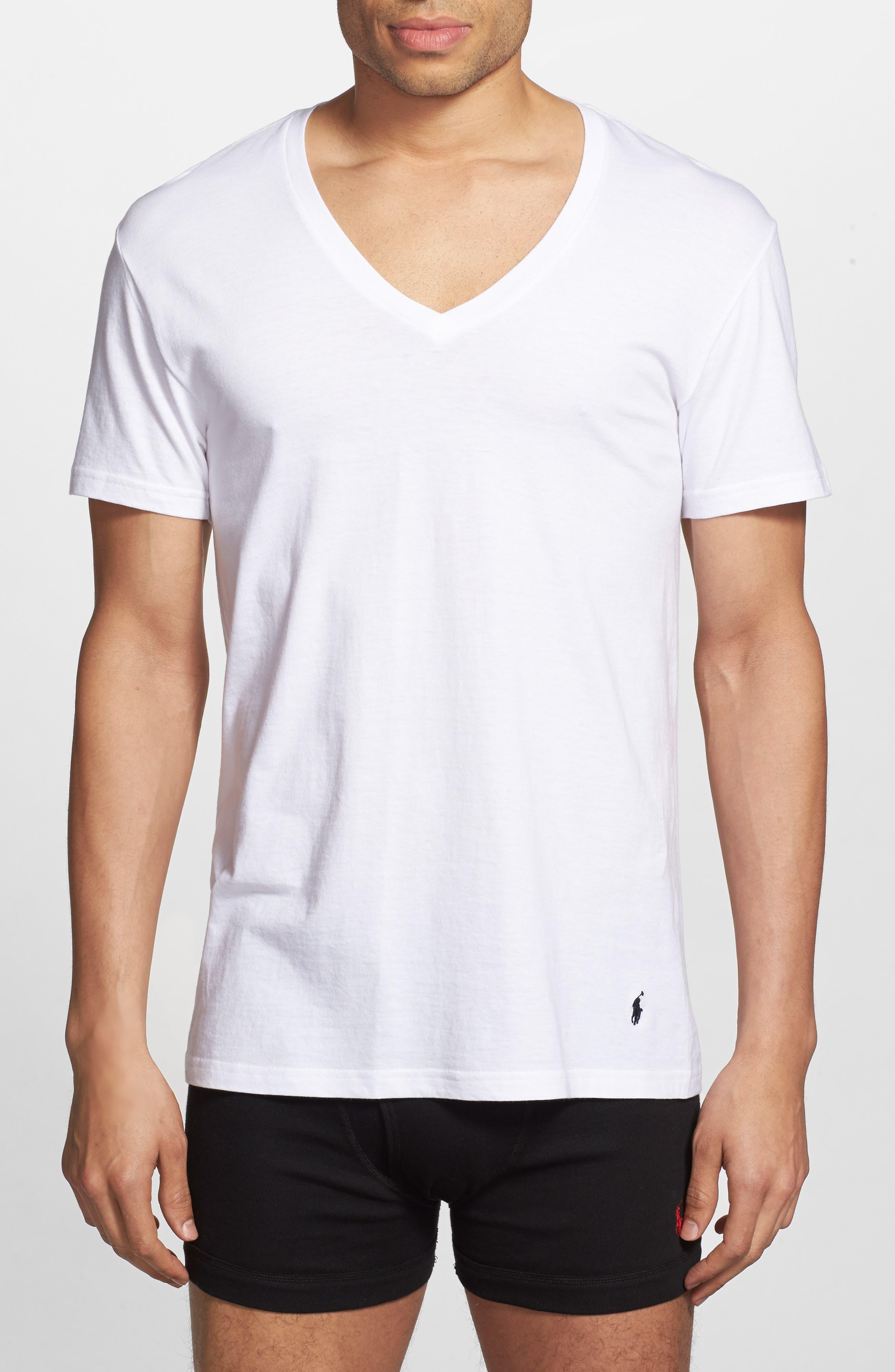 5-Pack V-Neck T-Shirts,                             Alternate thumbnail 2, color,                             100