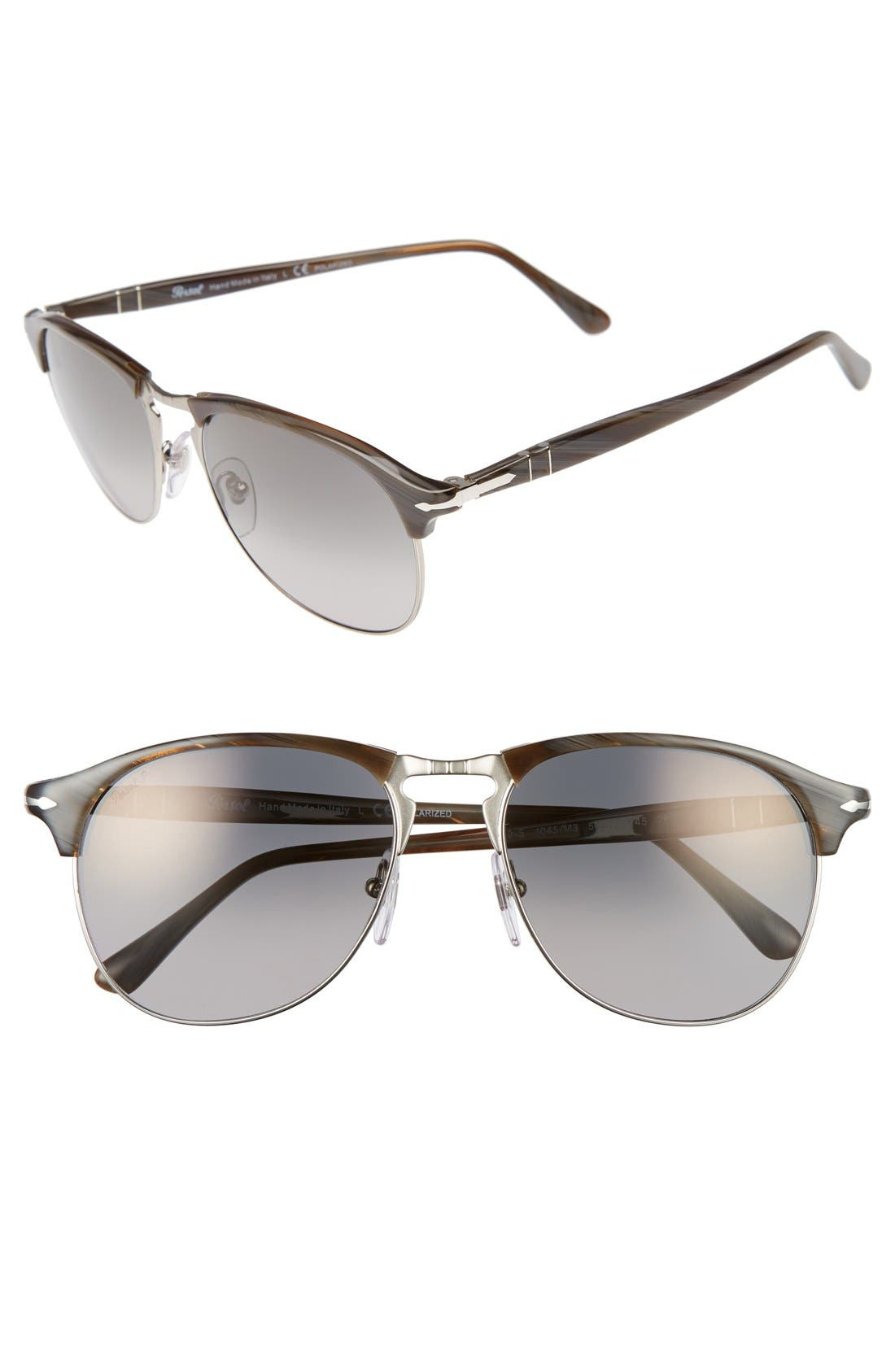 56mm Keyhole Sunglasses,                             Alternate thumbnail 2, color,                             GREY HORN