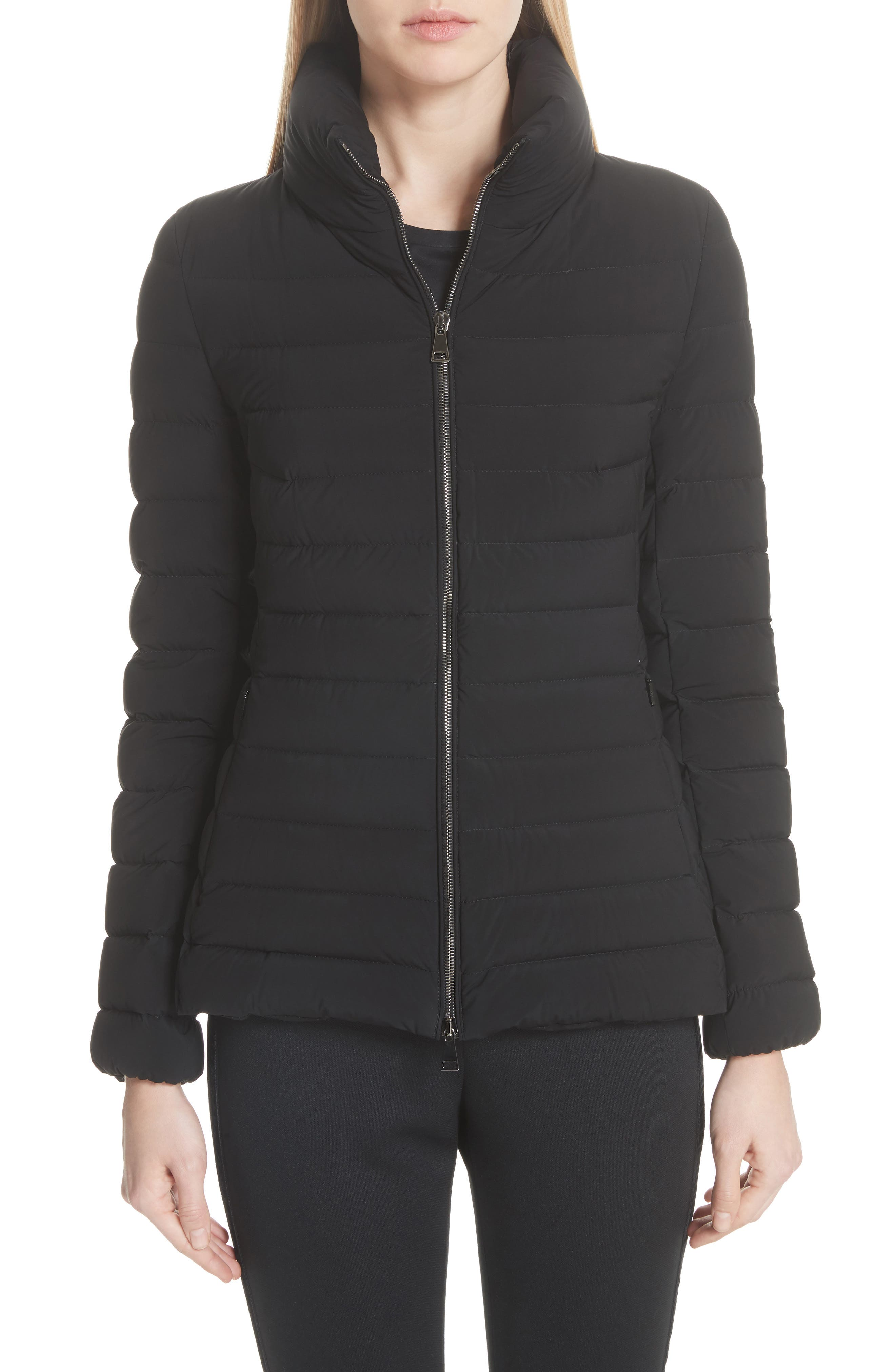 Guillemot Quilted Down Jacket,                             Main thumbnail 1, color,                             BLACK