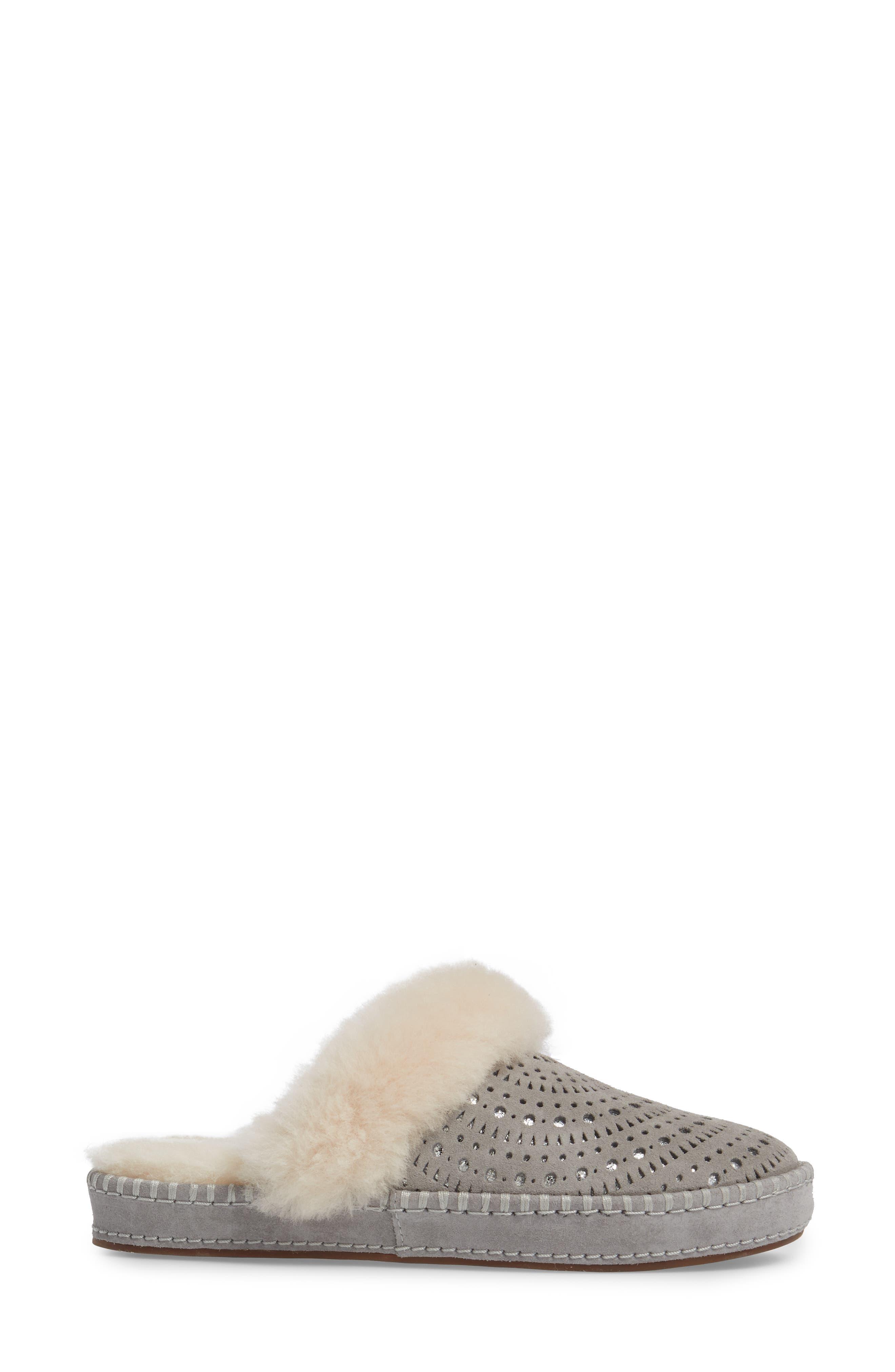 Aira Sunshine Genuine Shearling Slipper,                             Alternate thumbnail 3, color,                             024