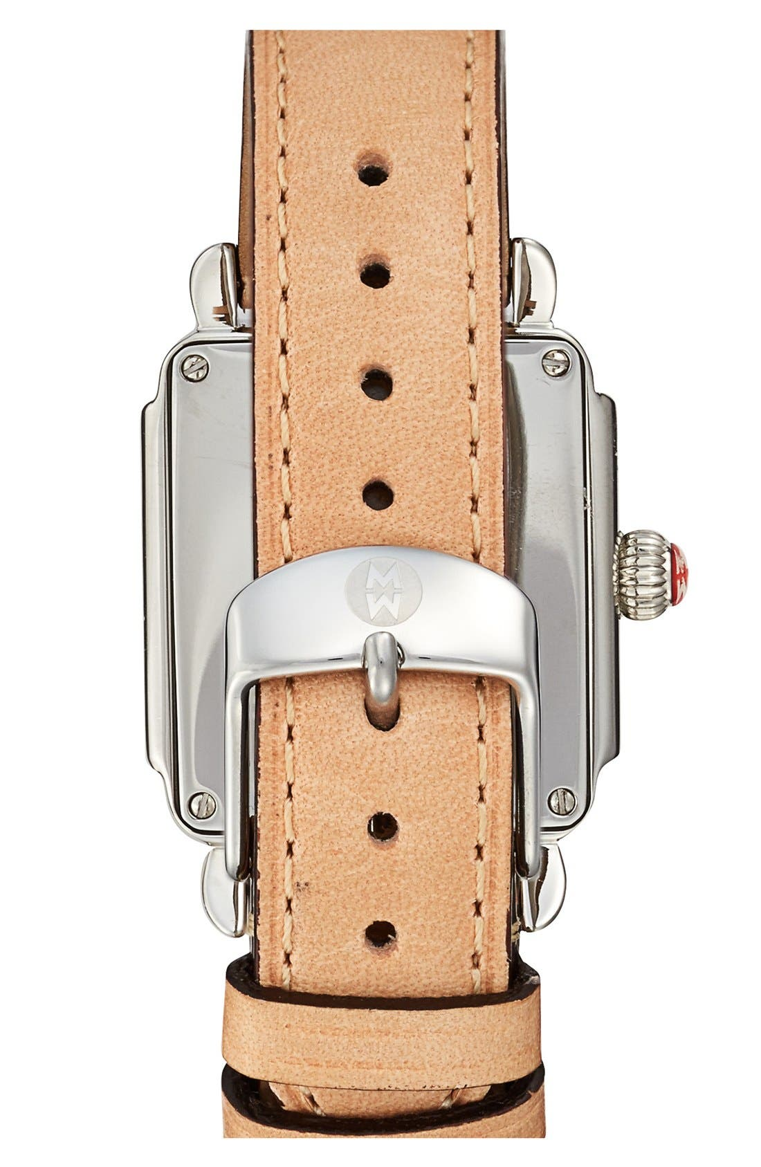 16mm Leather Watch Strap,                             Alternate thumbnail 4, color,                             TAN