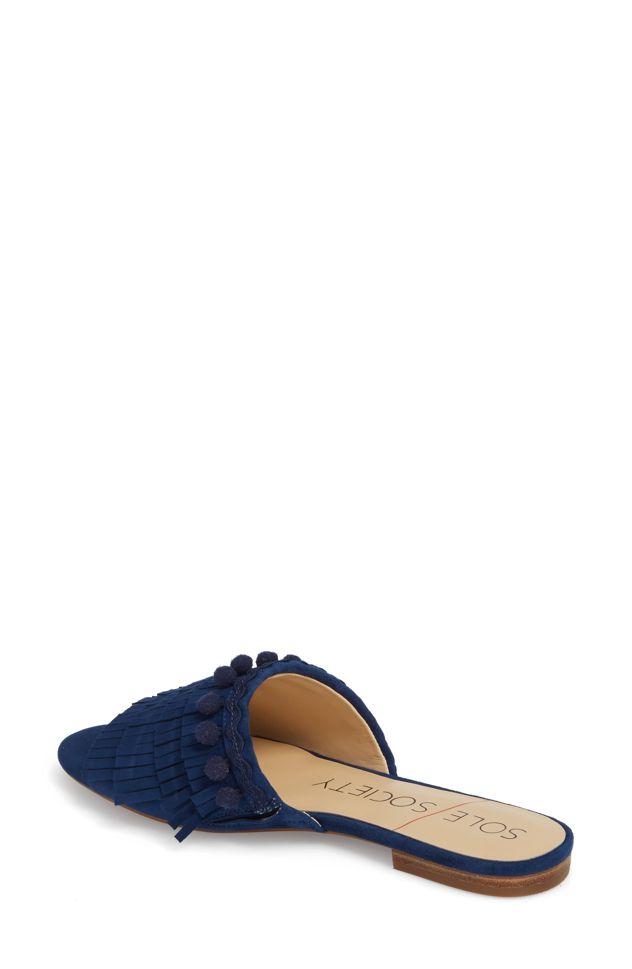 Malina Mule,                             Alternate thumbnail 2, color,                             NAVY SUEDE