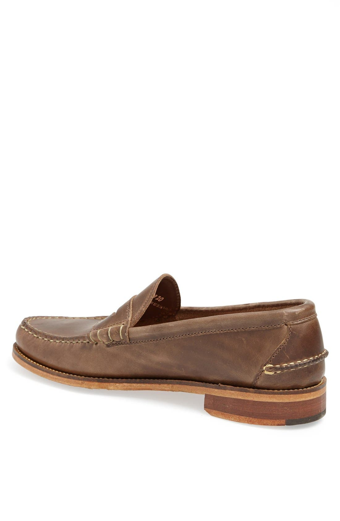 Beefroll Penny Loafer,                             Alternate thumbnail 4, color,                             NATURAL BROWN