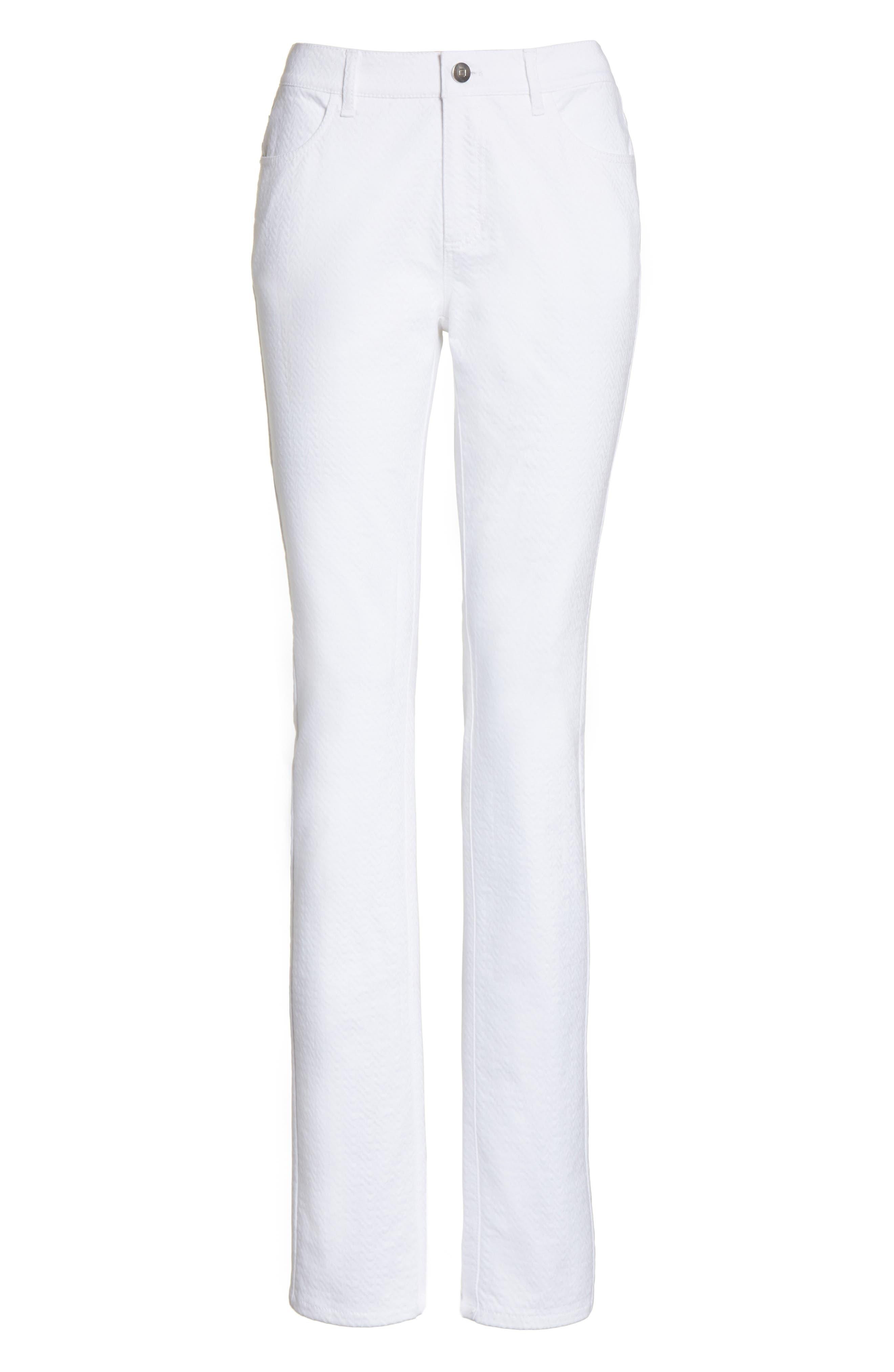 Thompson Straight Leg Jeans,                             Alternate thumbnail 7, color,                             WHITE