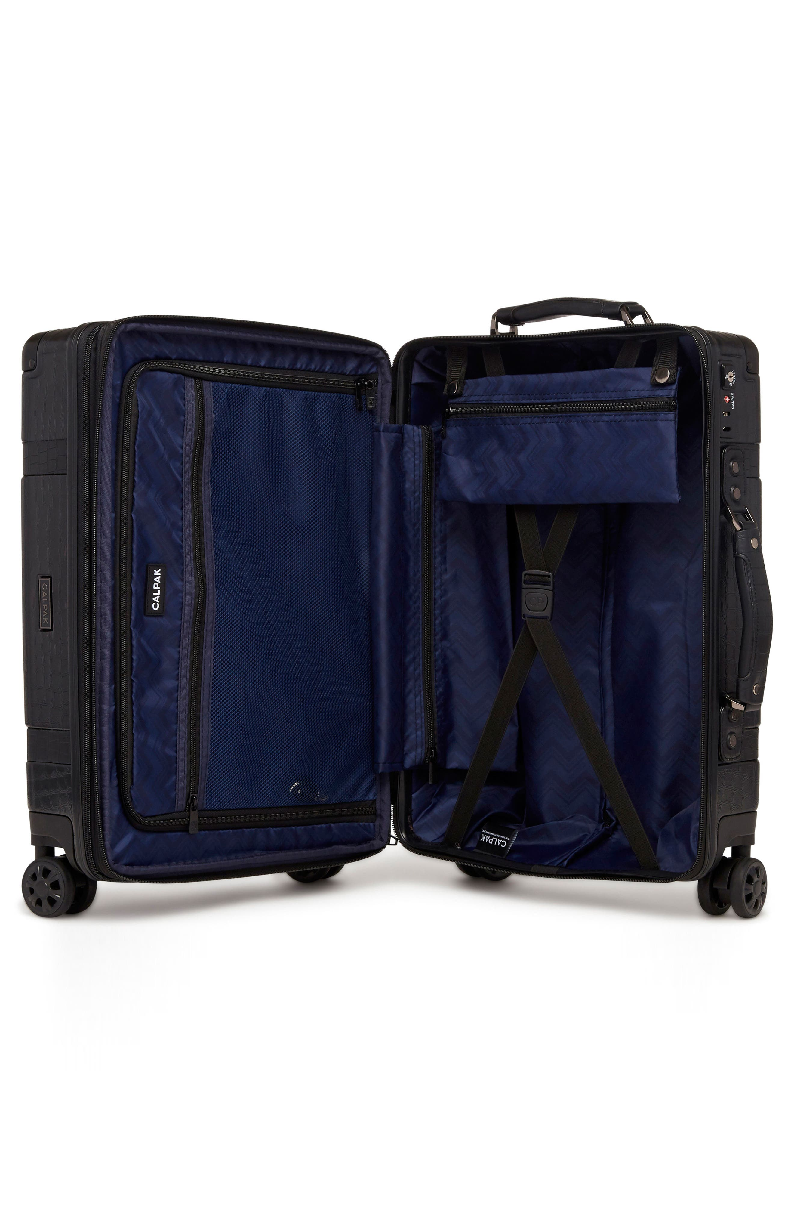 Trunk 22-Inch Rolling Suitcase,                             Alternate thumbnail 2, color,                             NOIR