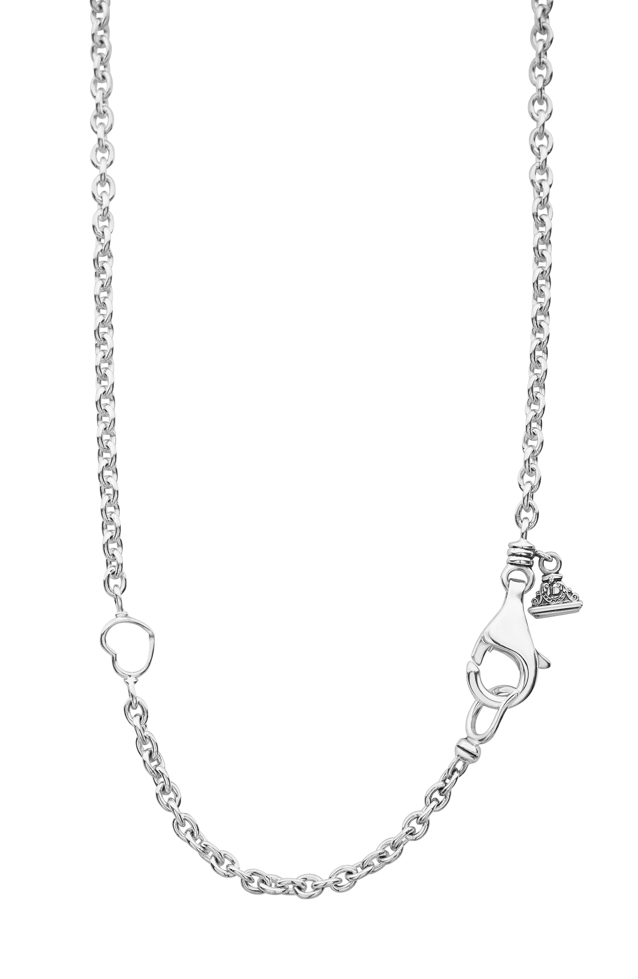 LAGOS,                             Enso Pendant Necklace,                             Alternate thumbnail 6, color,                             SILVER/ PEARL