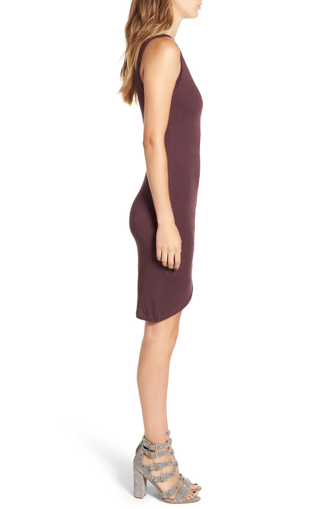 Ruched Body-Con Tank Dress,                             Alternate thumbnail 208, color,