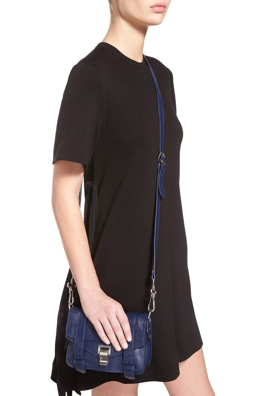 'Mini PS1' Lambskin Leather Crossbody Bag,                             Alternate thumbnail 6, color,