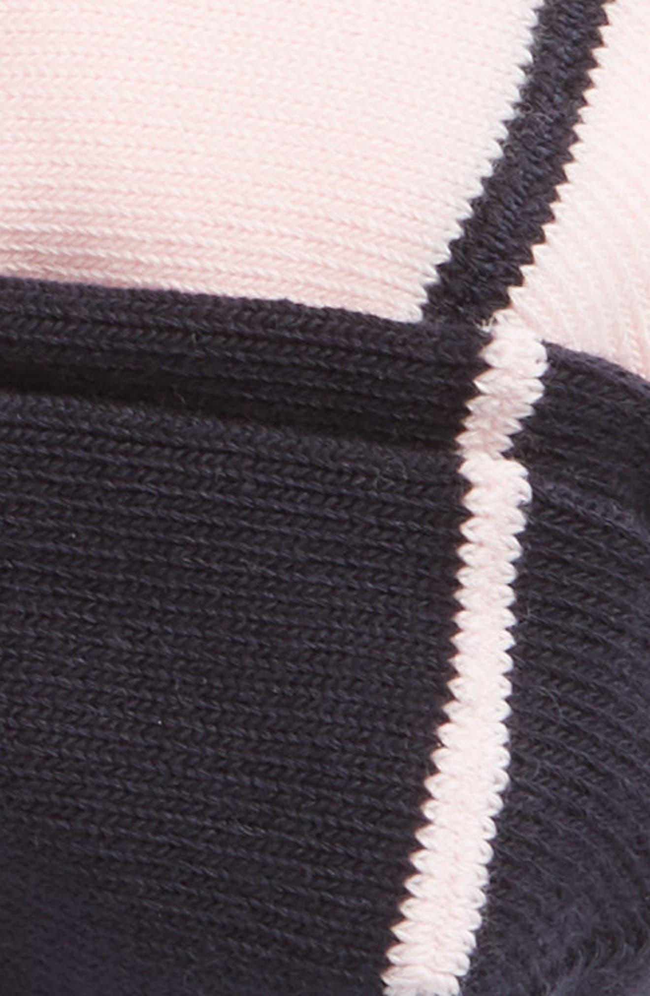 2-Pack Loafer Liner Socks,                             Alternate thumbnail 2, color,                             NAVY/ PINK