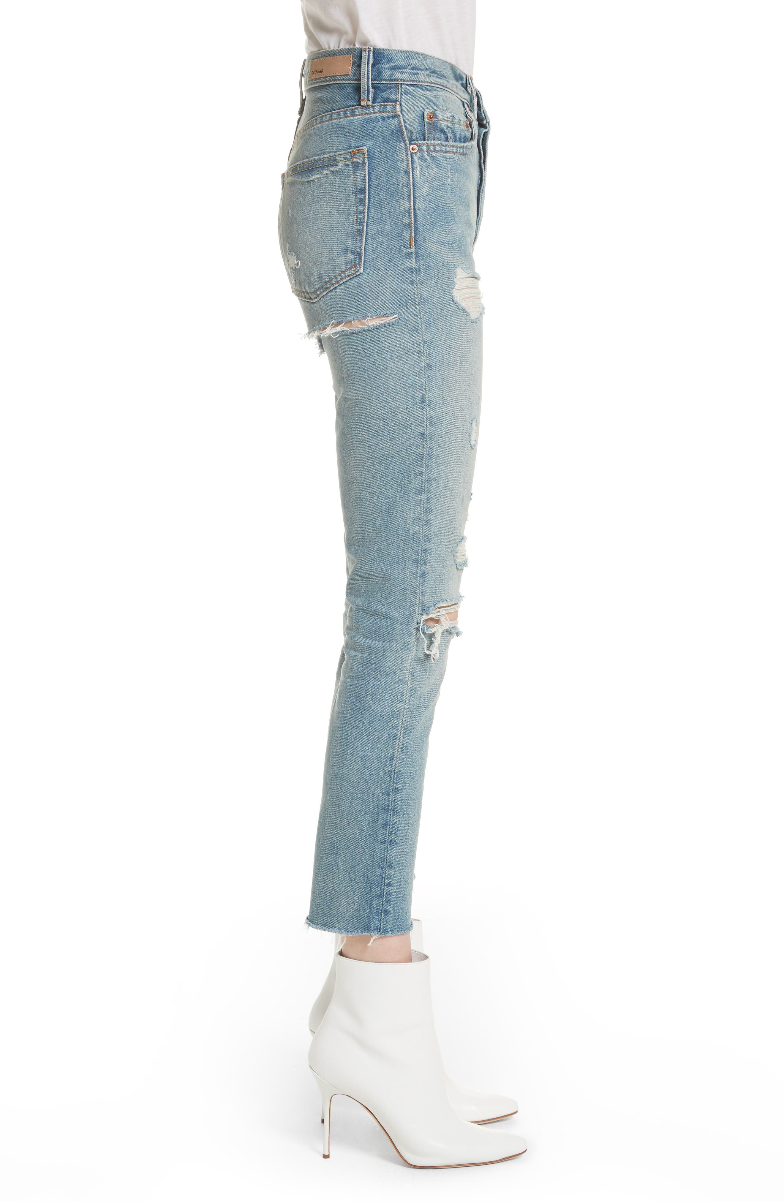 Karolina Ripped Rigid High Waist Skinny Jeans,                             Alternate thumbnail 3, color,                             A LITTLE MORE LOVE