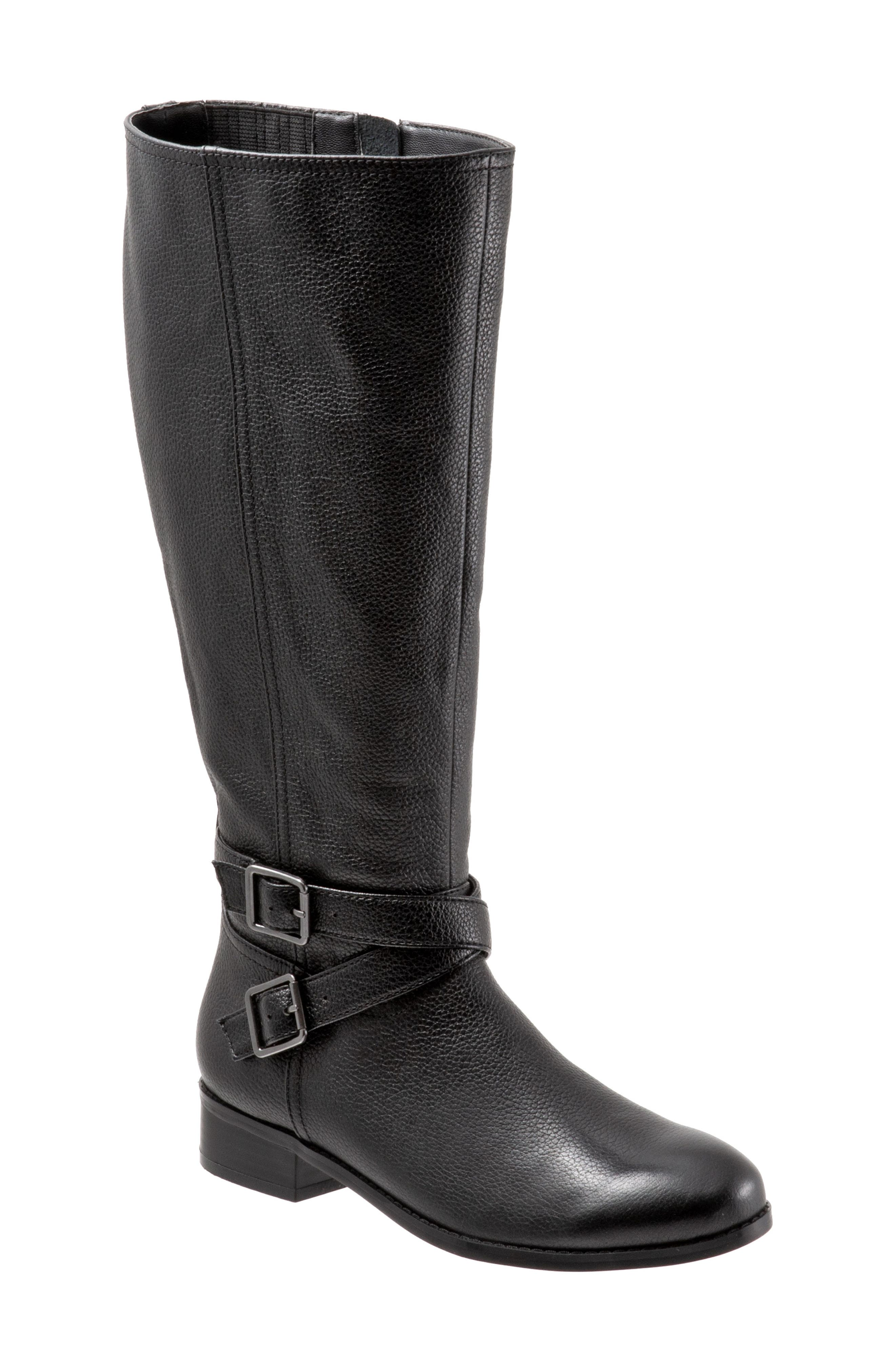 Liberty Tall Boot,                         Main,                         color, BLACK LEATHER