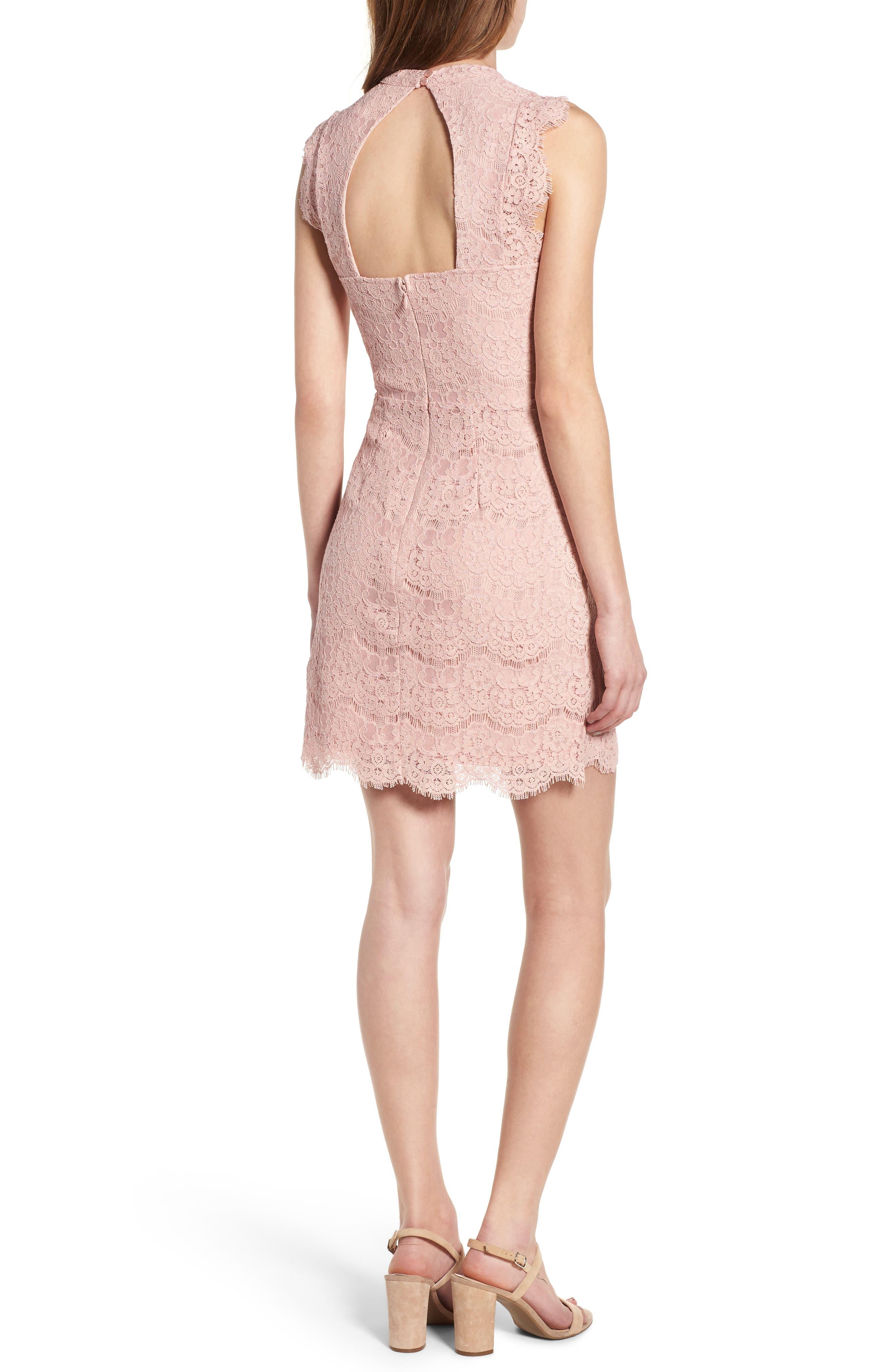 Lace Body-Con Minidress,                             Alternate thumbnail 8, color,
