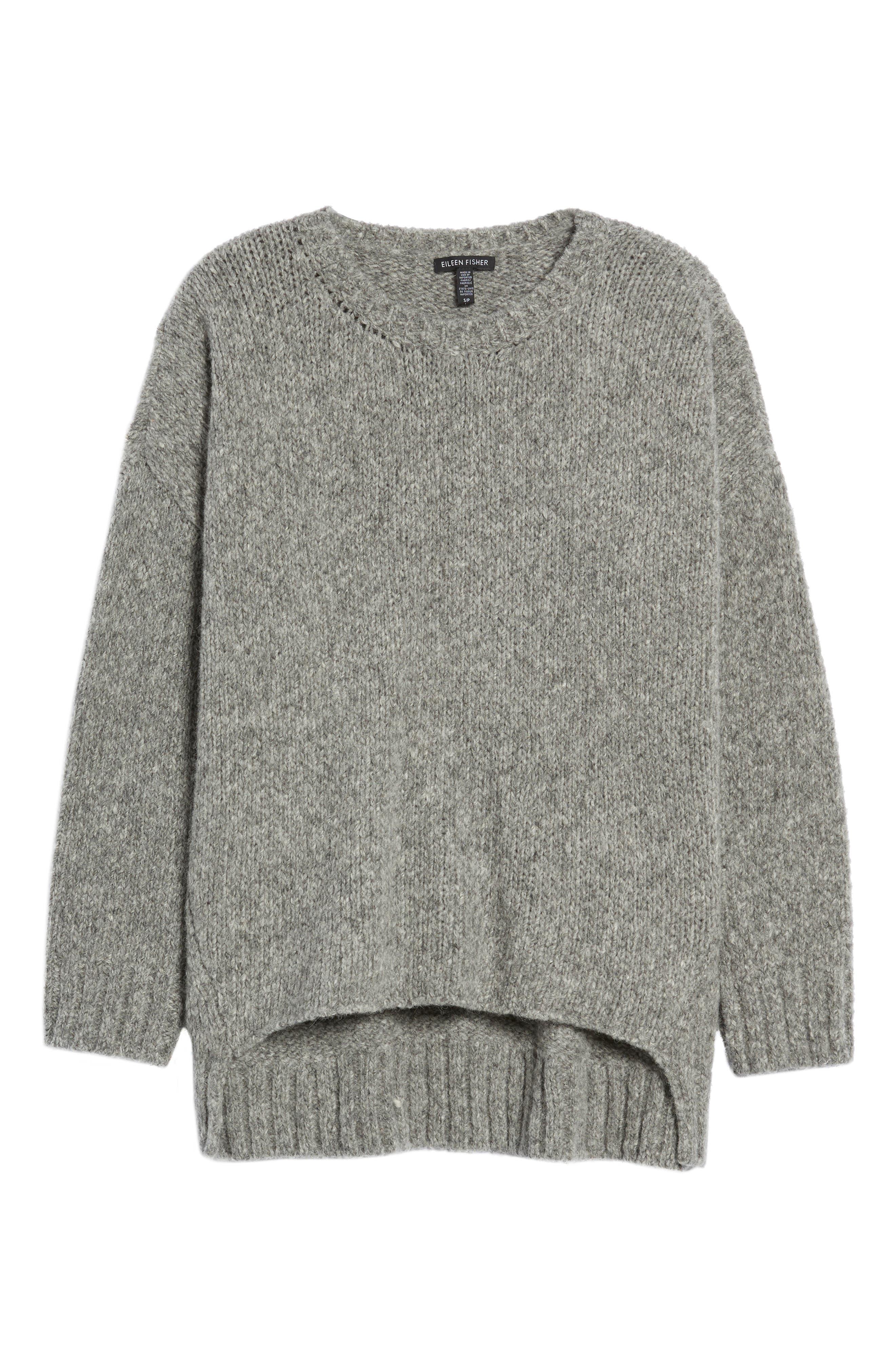 High/Low Alpaca Blend Sweater,                             Alternate thumbnail 6, color,                             187