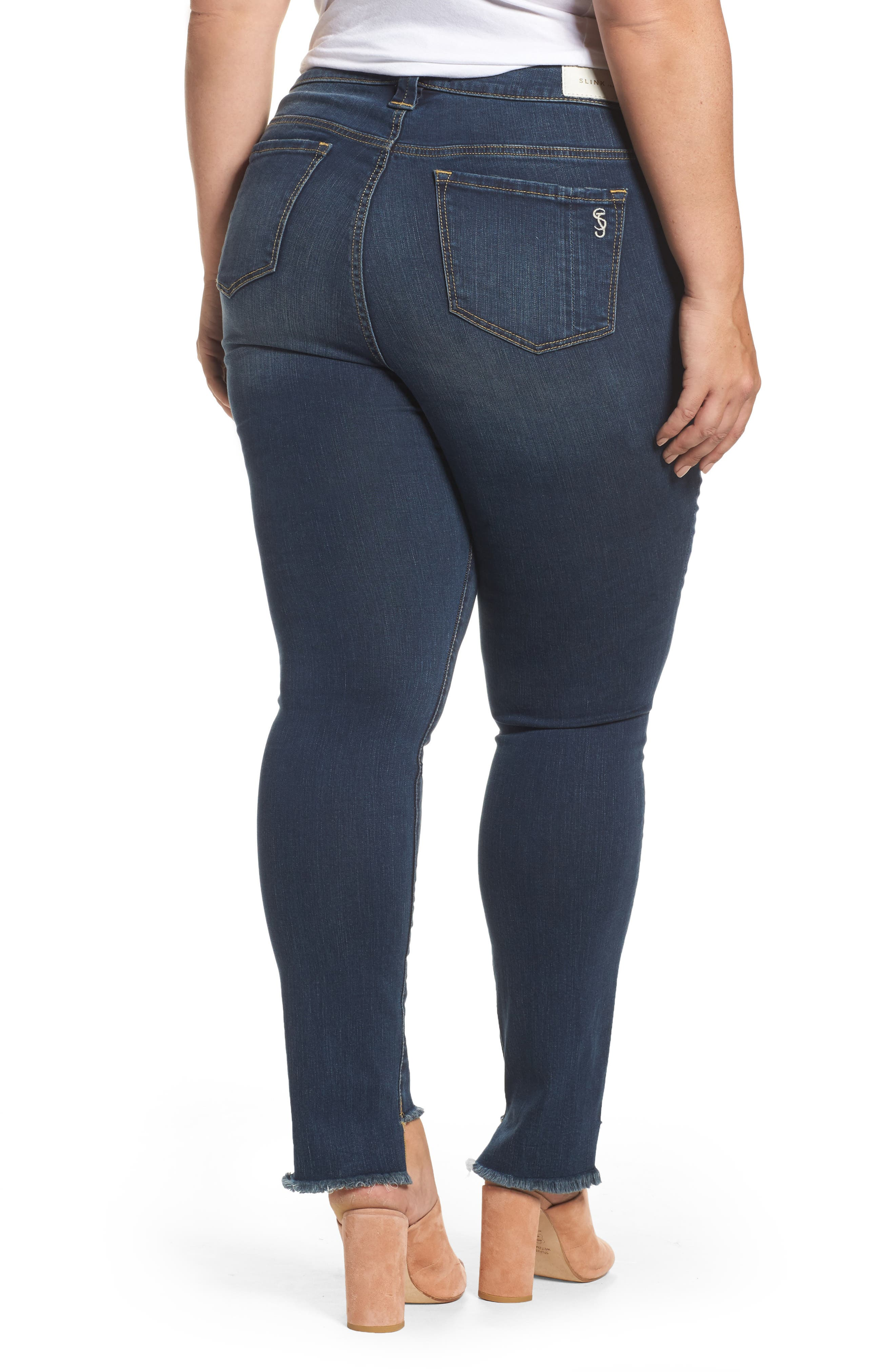 Step Hem Skinny Jeans,                             Alternate thumbnail 2, color,                             422