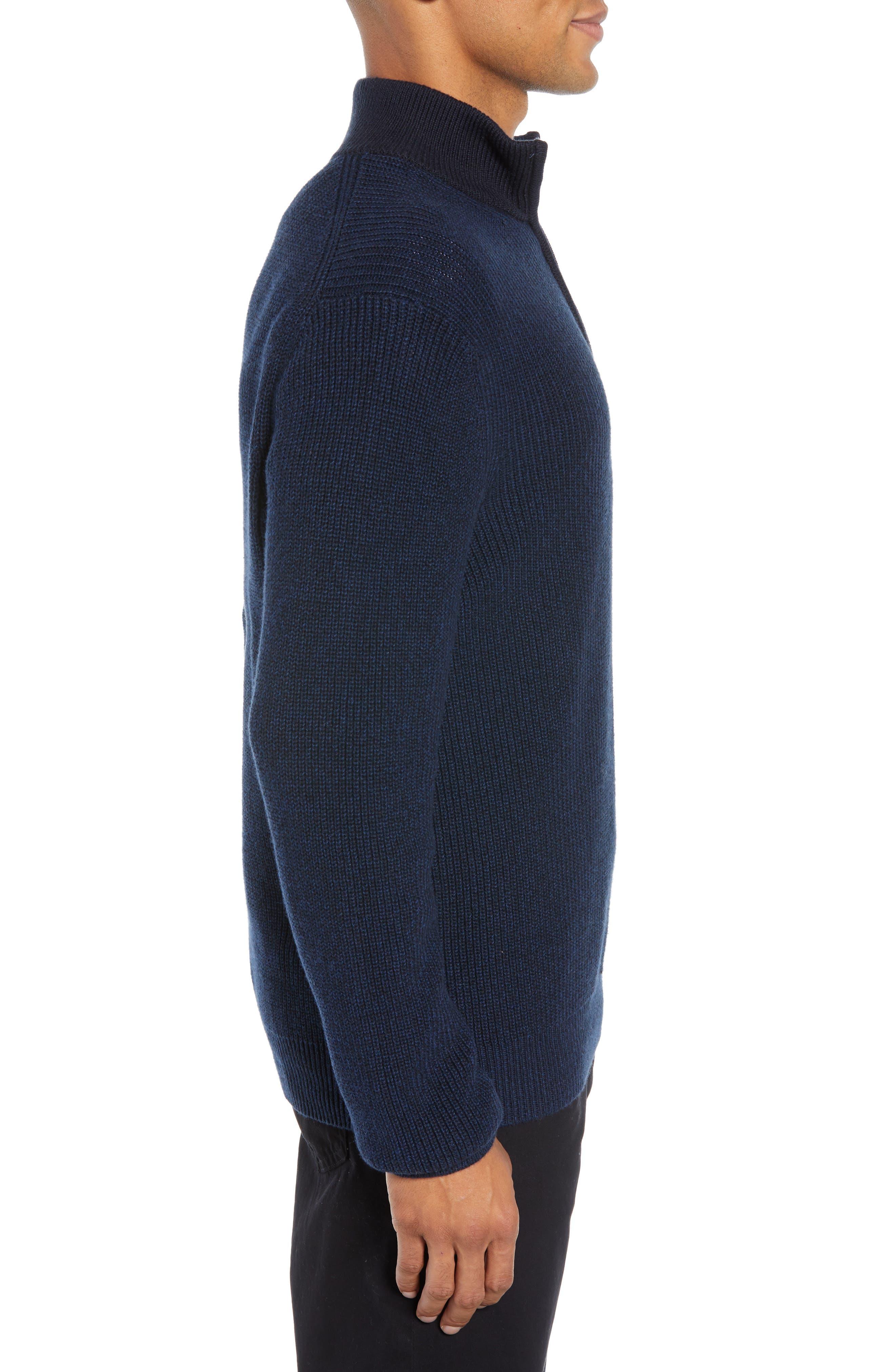 Fillmore Quarter Zip Sweater,                             Alternate thumbnail 3, color,                             NAVY