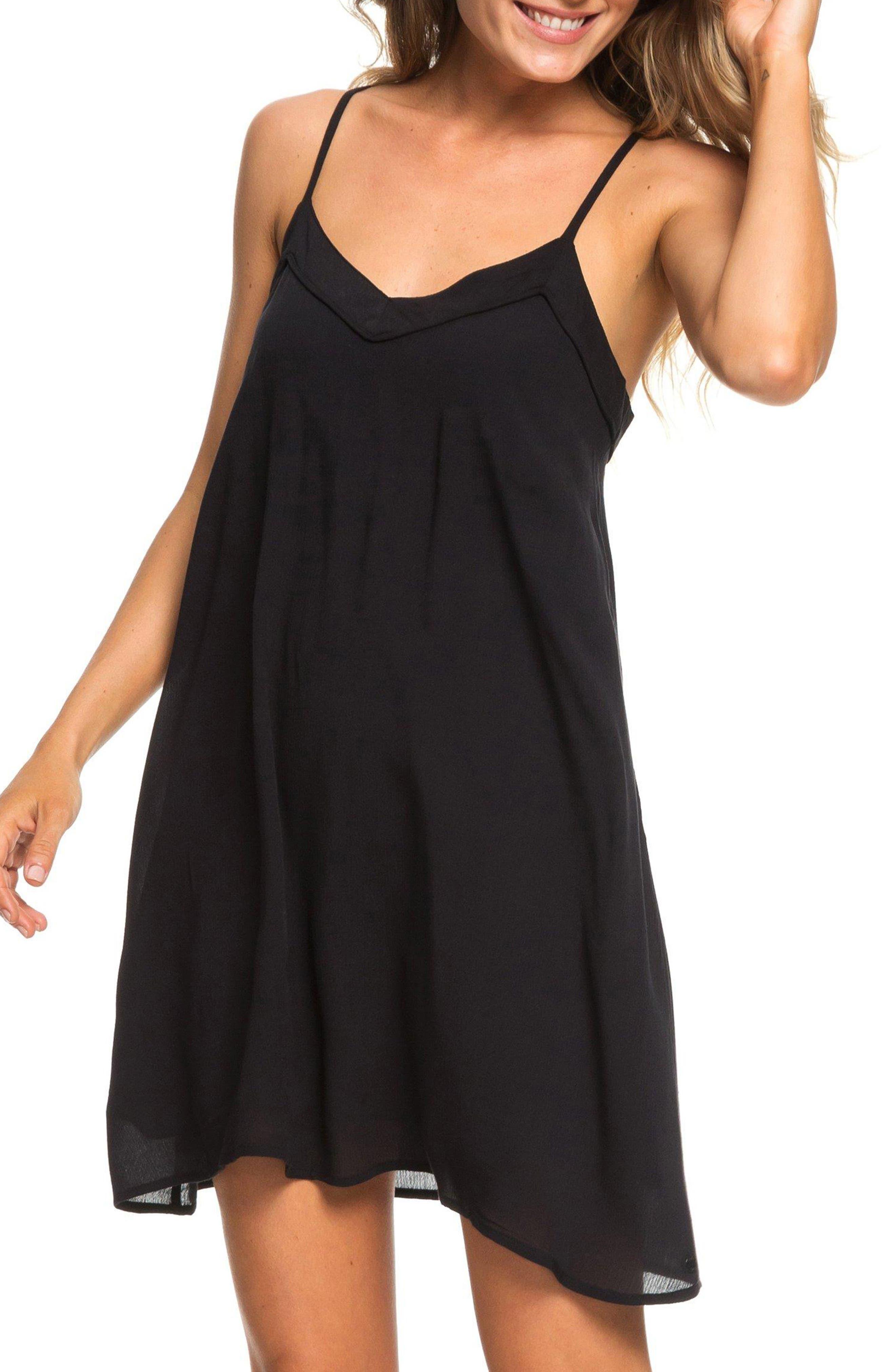 ROXY Off We Go Minidress, Main, color, TRUE BLACK