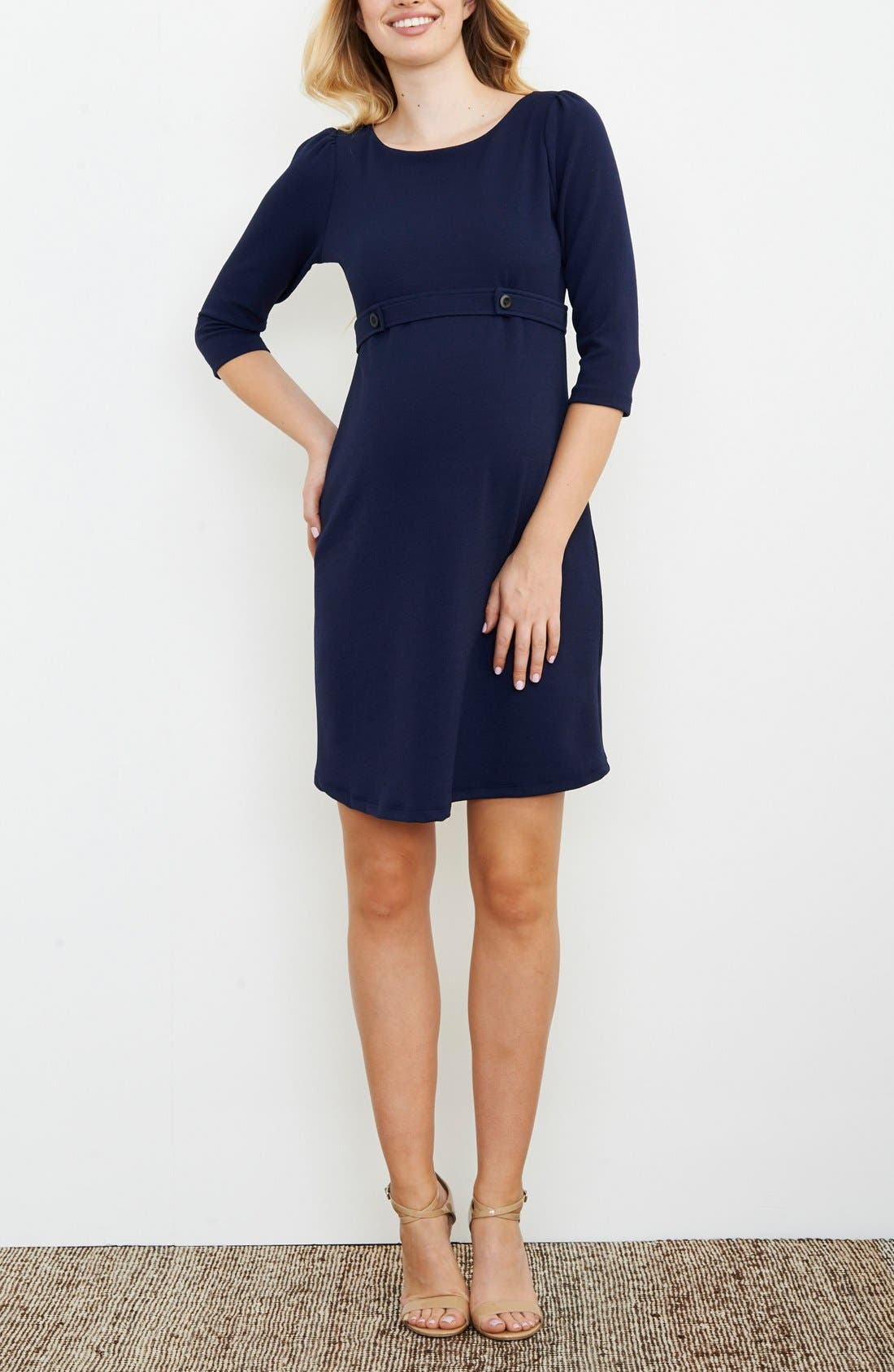 Button Band Maternity Dress,                         Main,                         color,