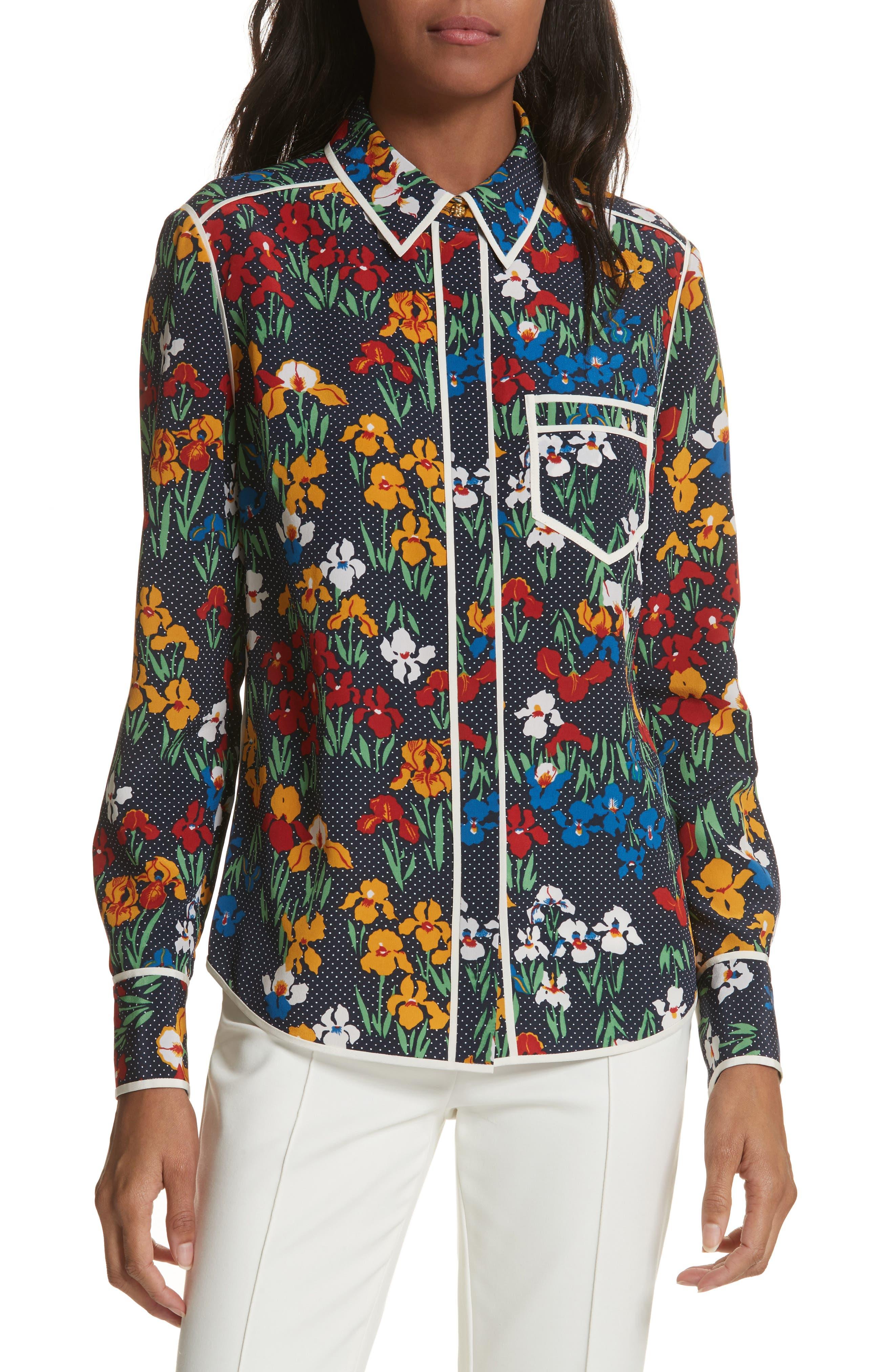 Jackie Silk Shirt,                             Main thumbnail 2, color,