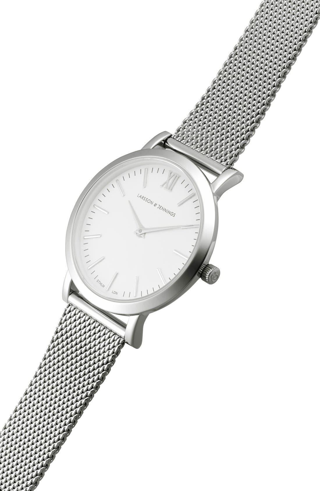 'Lugano' Mesh Strap Watch, 33mm,                             Alternate thumbnail 6, color,                             040